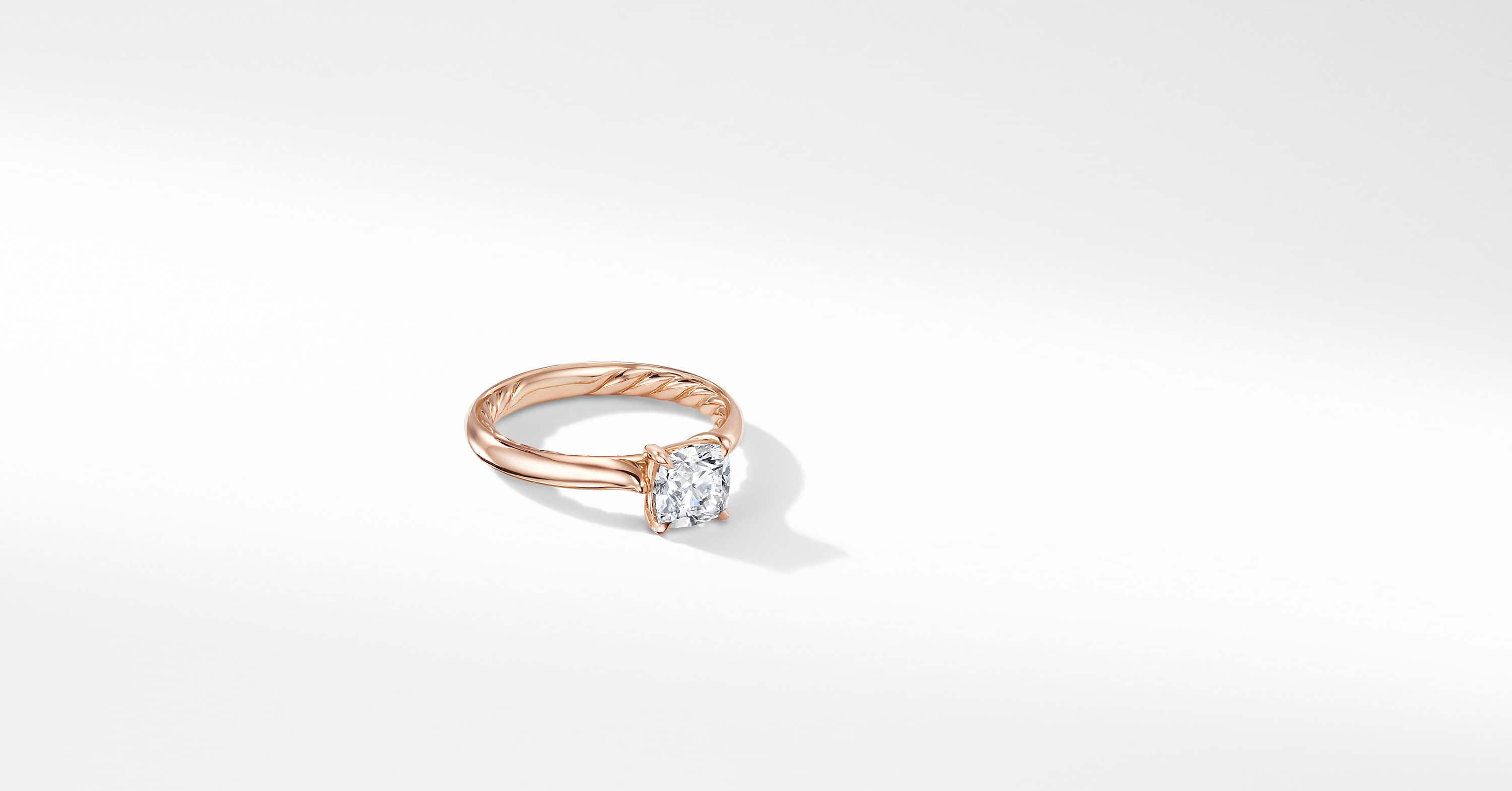 DY Eden Engagement Ring in 18K Rose Gold, Cushion