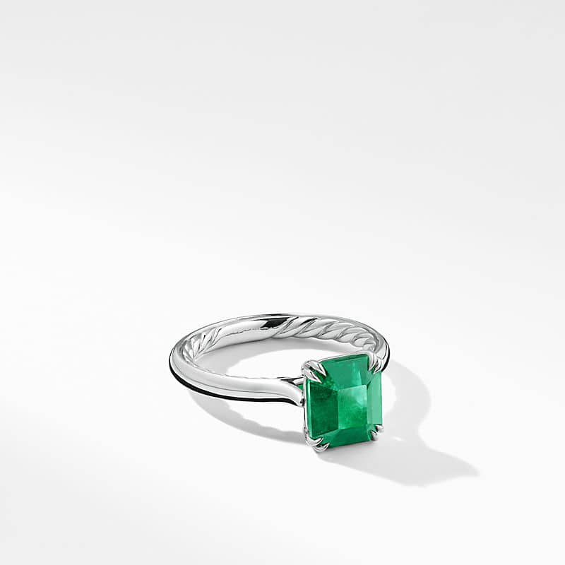 DY Eden Engagement Ring with Green Emerald in