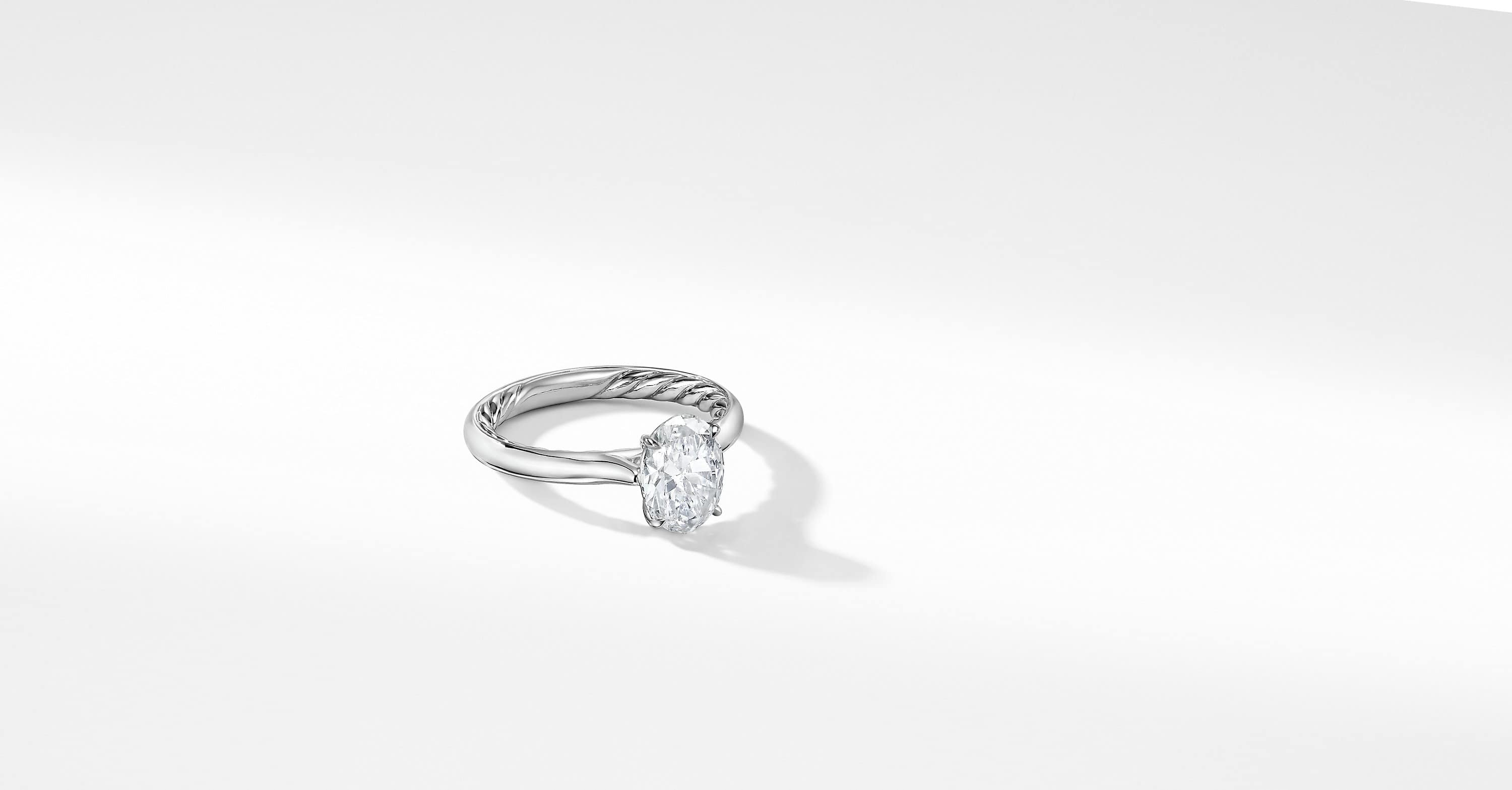 DY Eden Engagement Ring in Platinum, Oval
