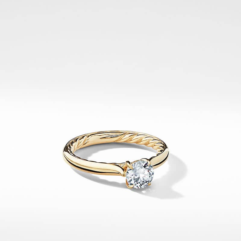 DY Eden Engagement ring in 18K Yellow Gold,