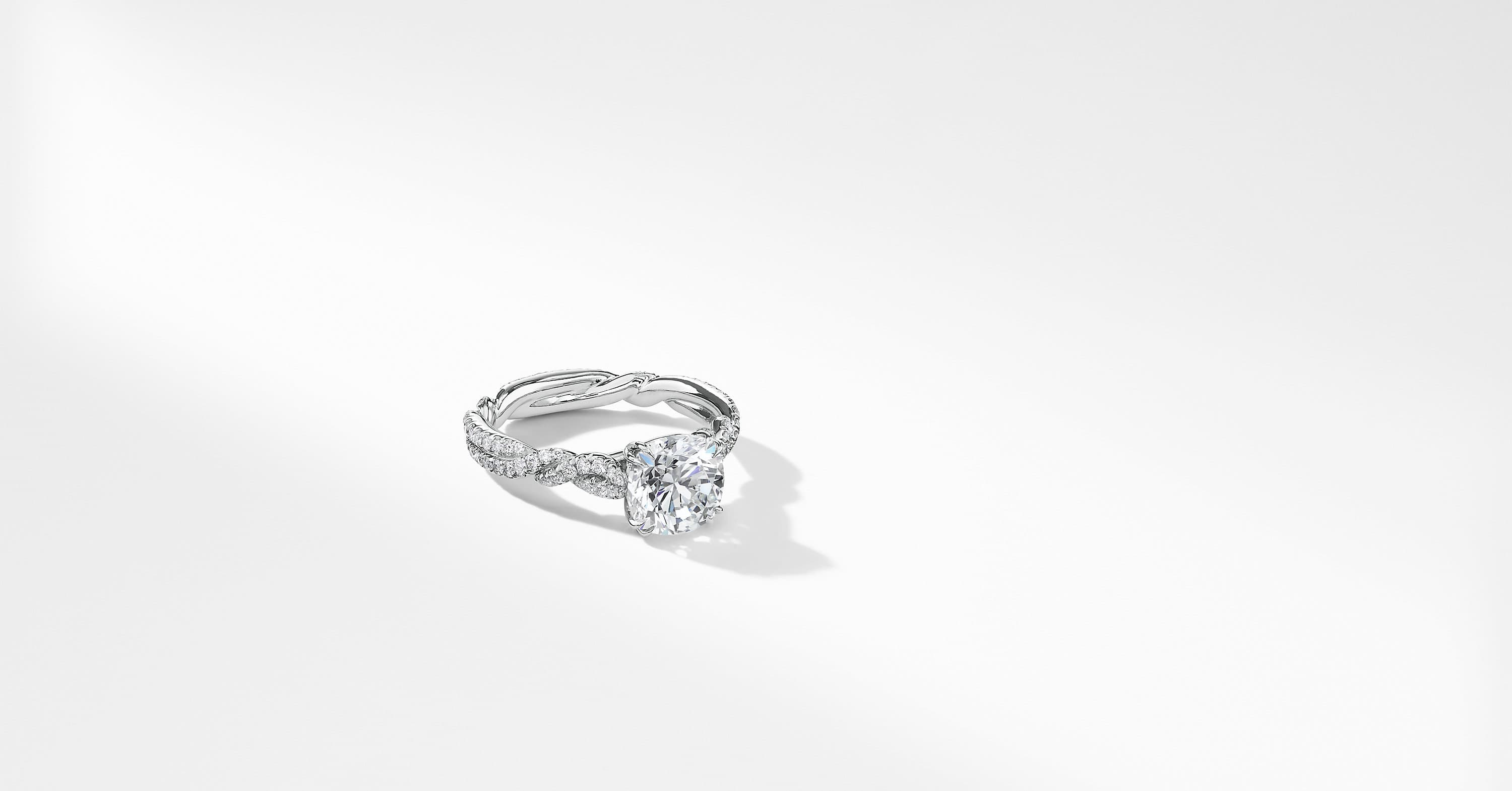 DY Wisteria Engagement Ring in Platinum, DY Signature Cut
