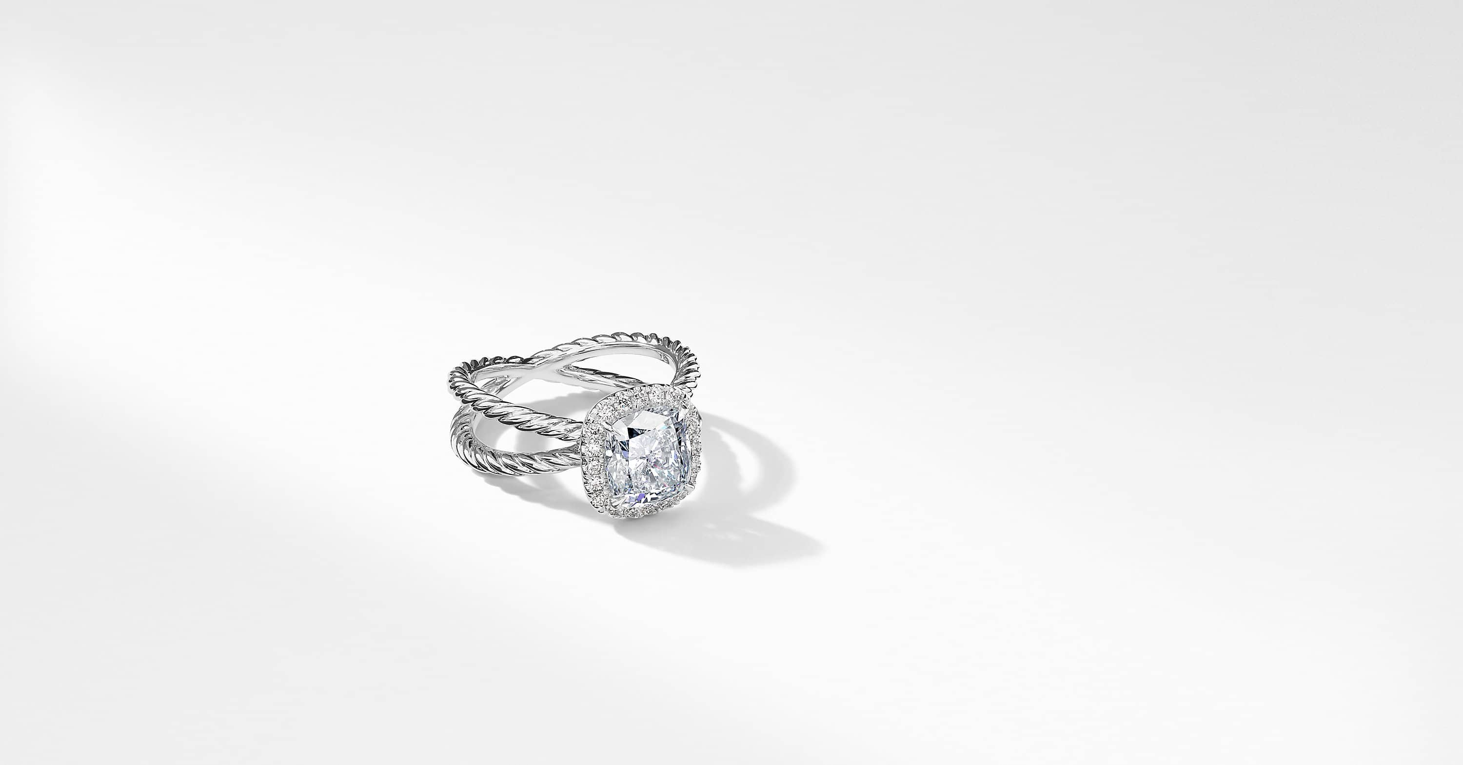 DY Crossover Capri Engagement Ring in Platinum, DY Signature Cut