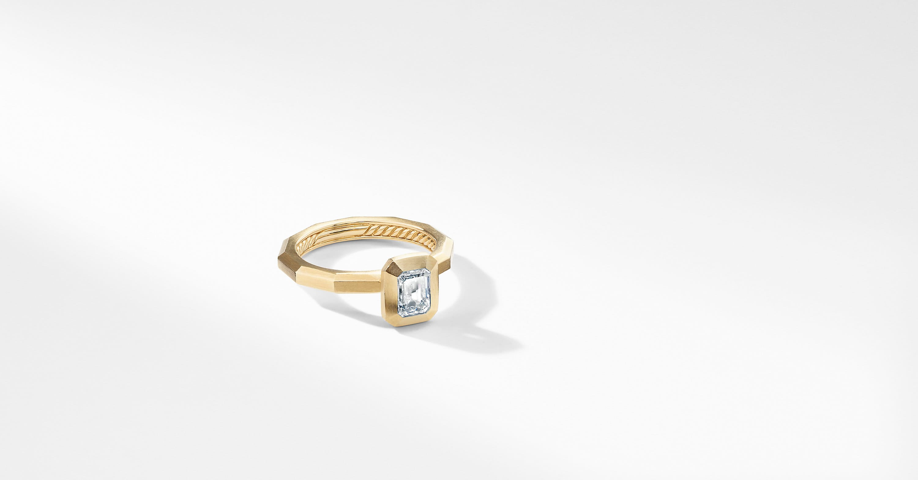 DY Delaunay Petite Engagement Ring in 18K Gold, Emerald