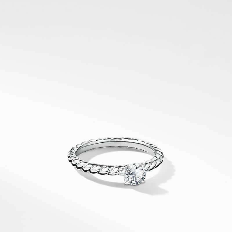 DY Unity Petite Cable Engagement Ring in Platinum,