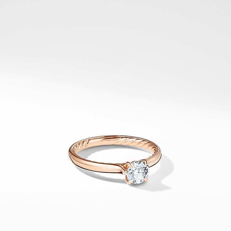 DY Eden Petite Solitaire Engagement Ring in 18K