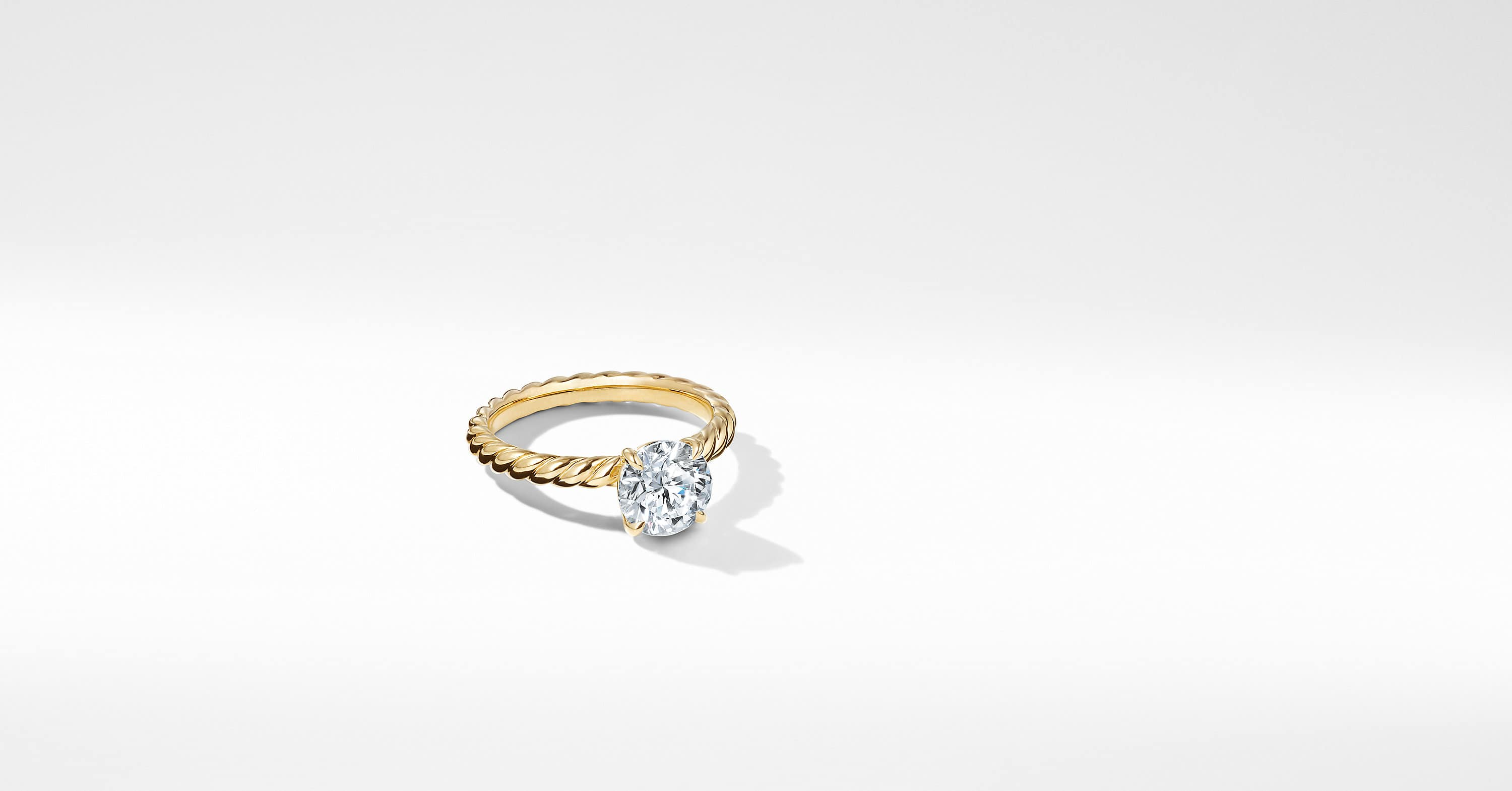 DY Unity Cable Engagement Ring in 18K Yellow Gold, Round