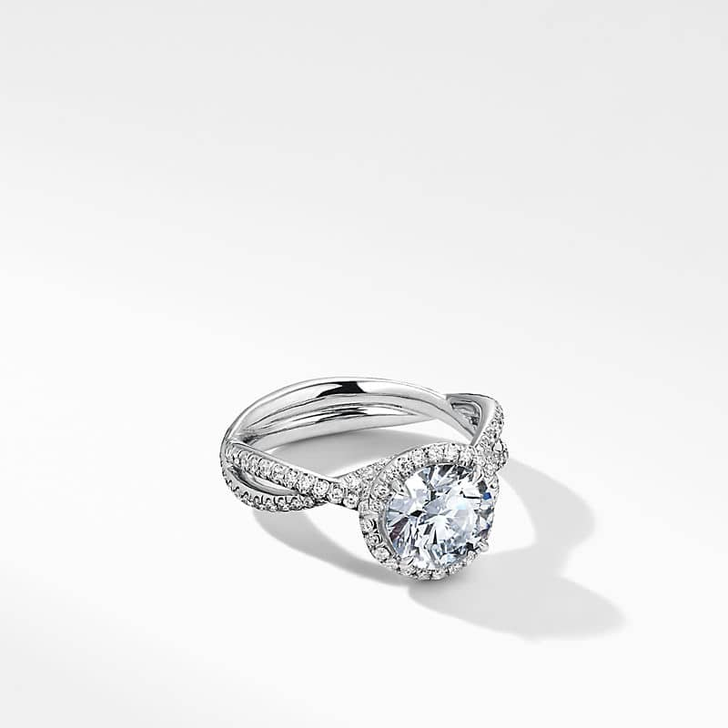 DY Lanai Engagement Ring in Platinum with Full