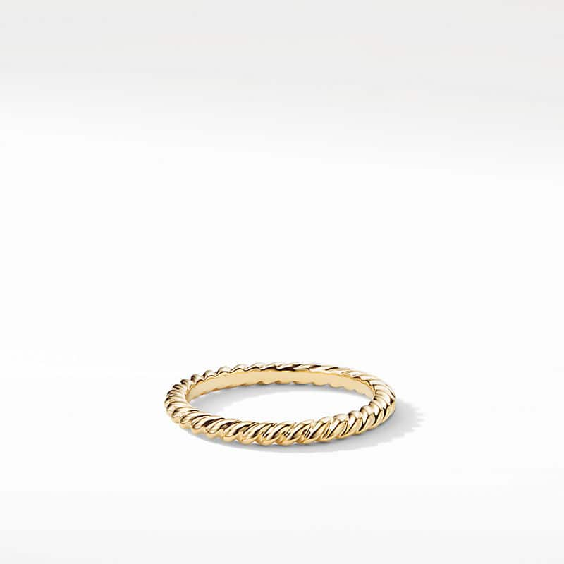 DY Unity Cable Wedding Band in 18K Gold, 2mm