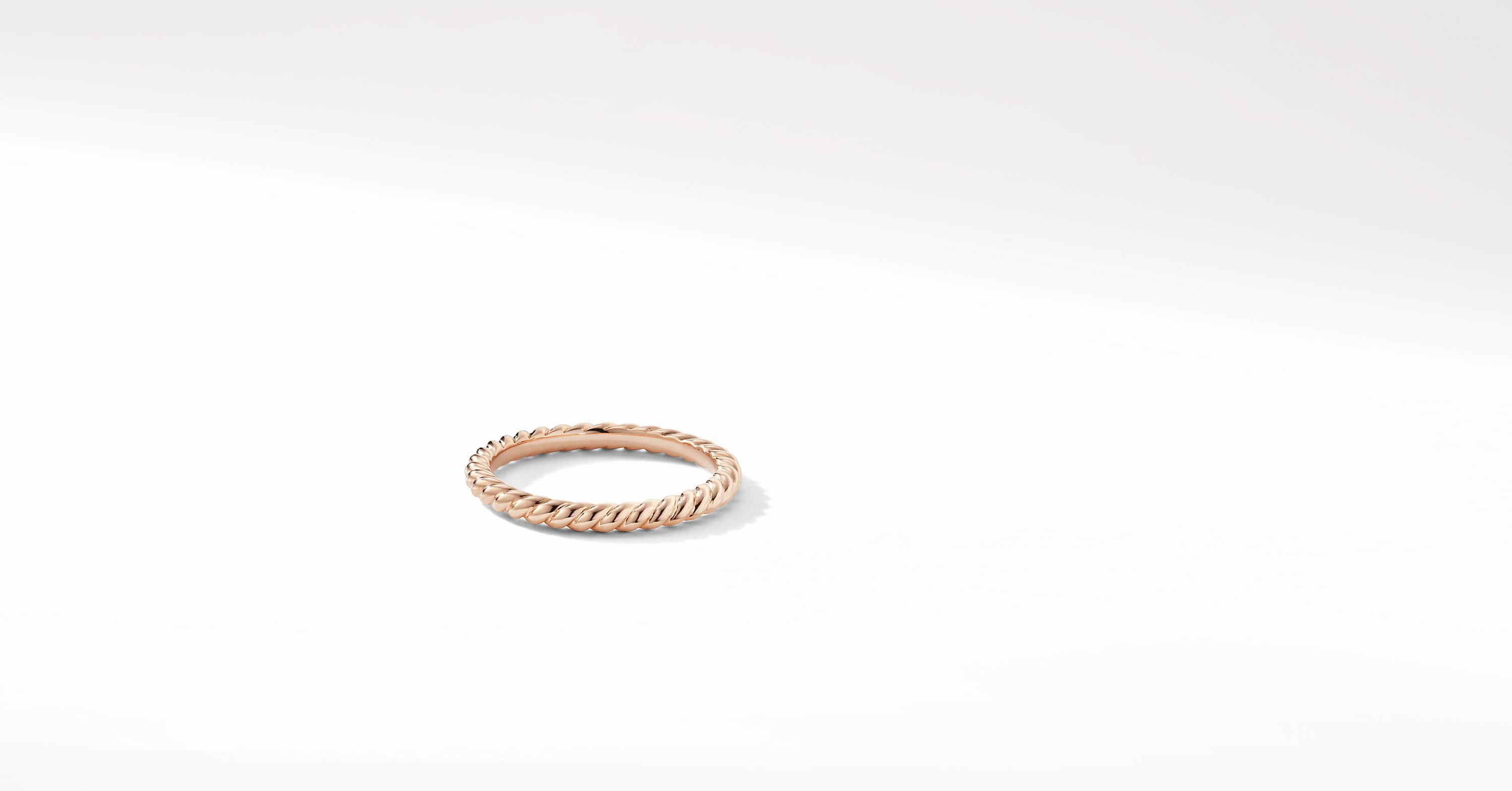 DY Unity Cable Wedding Band in 18K Rose Gold, 2mm