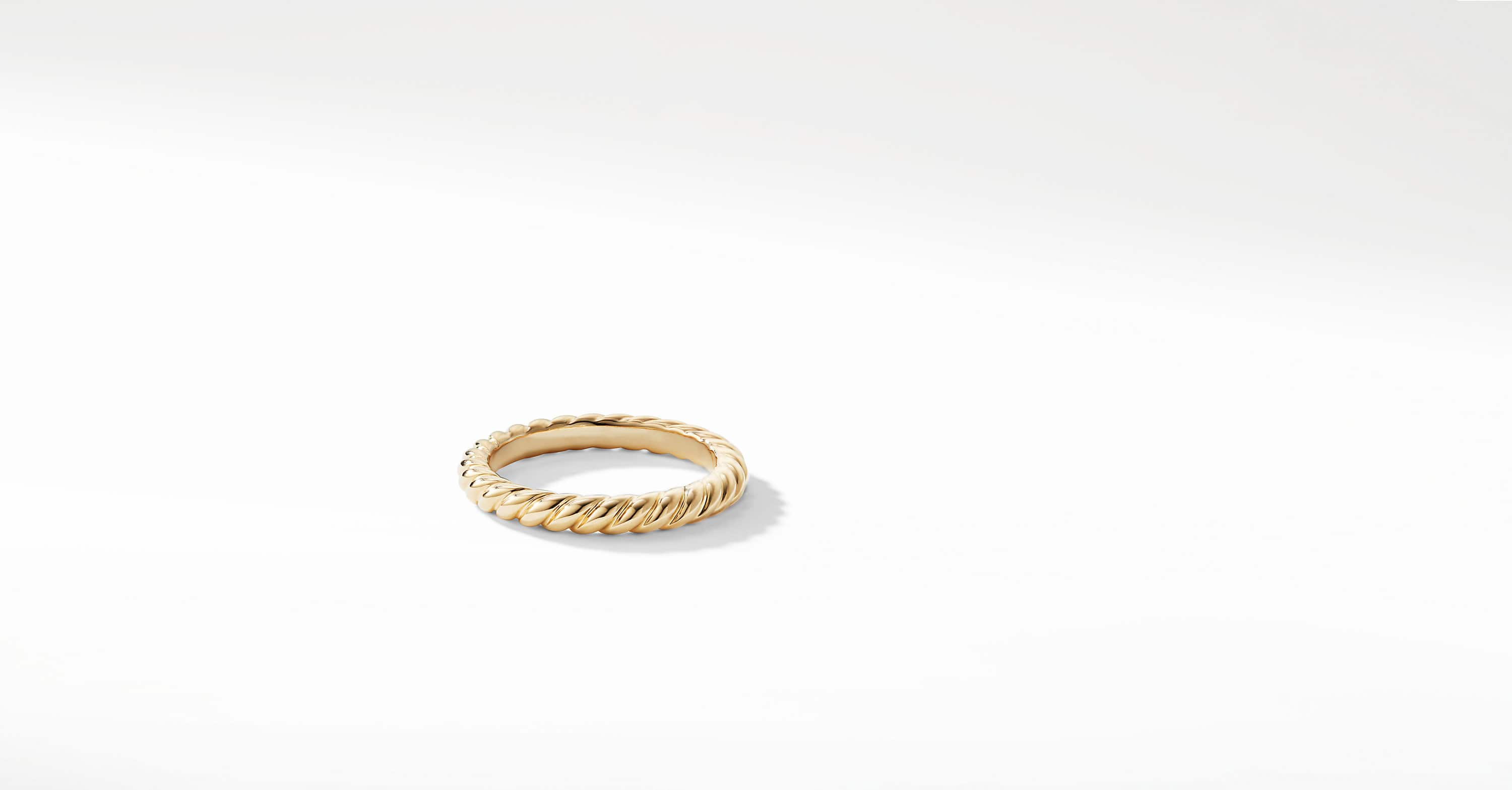 DY Unity Cable Wedding Band in 18K Gold, 3mm