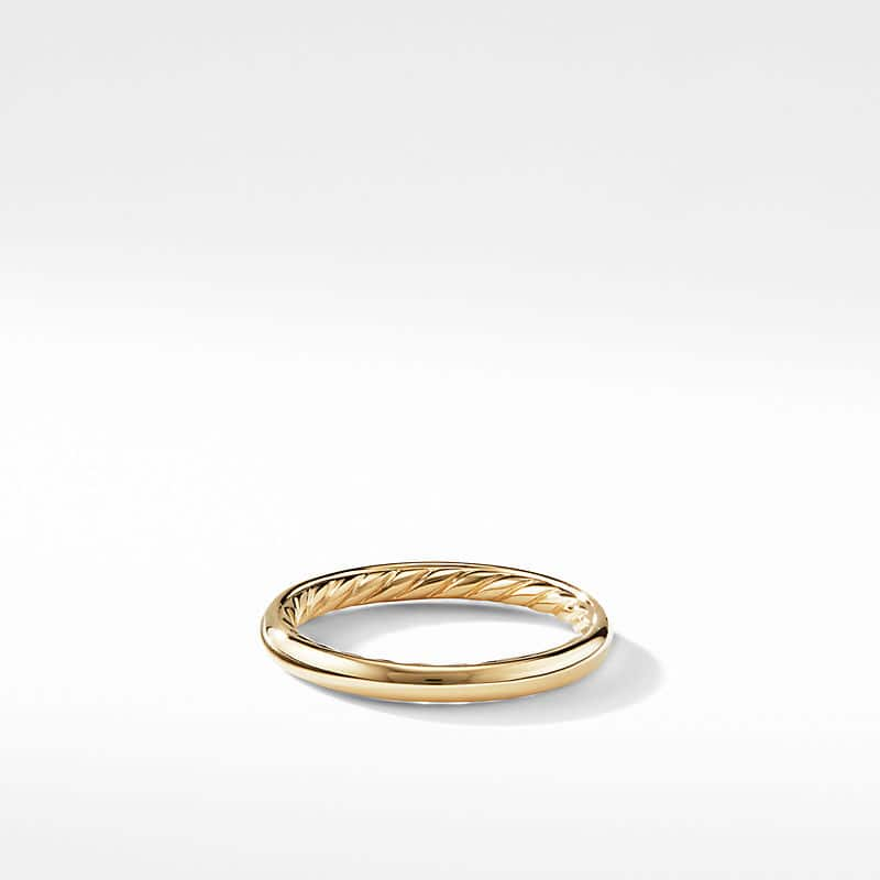 DY Eden Smooth Wedding Band in 18K Gold,