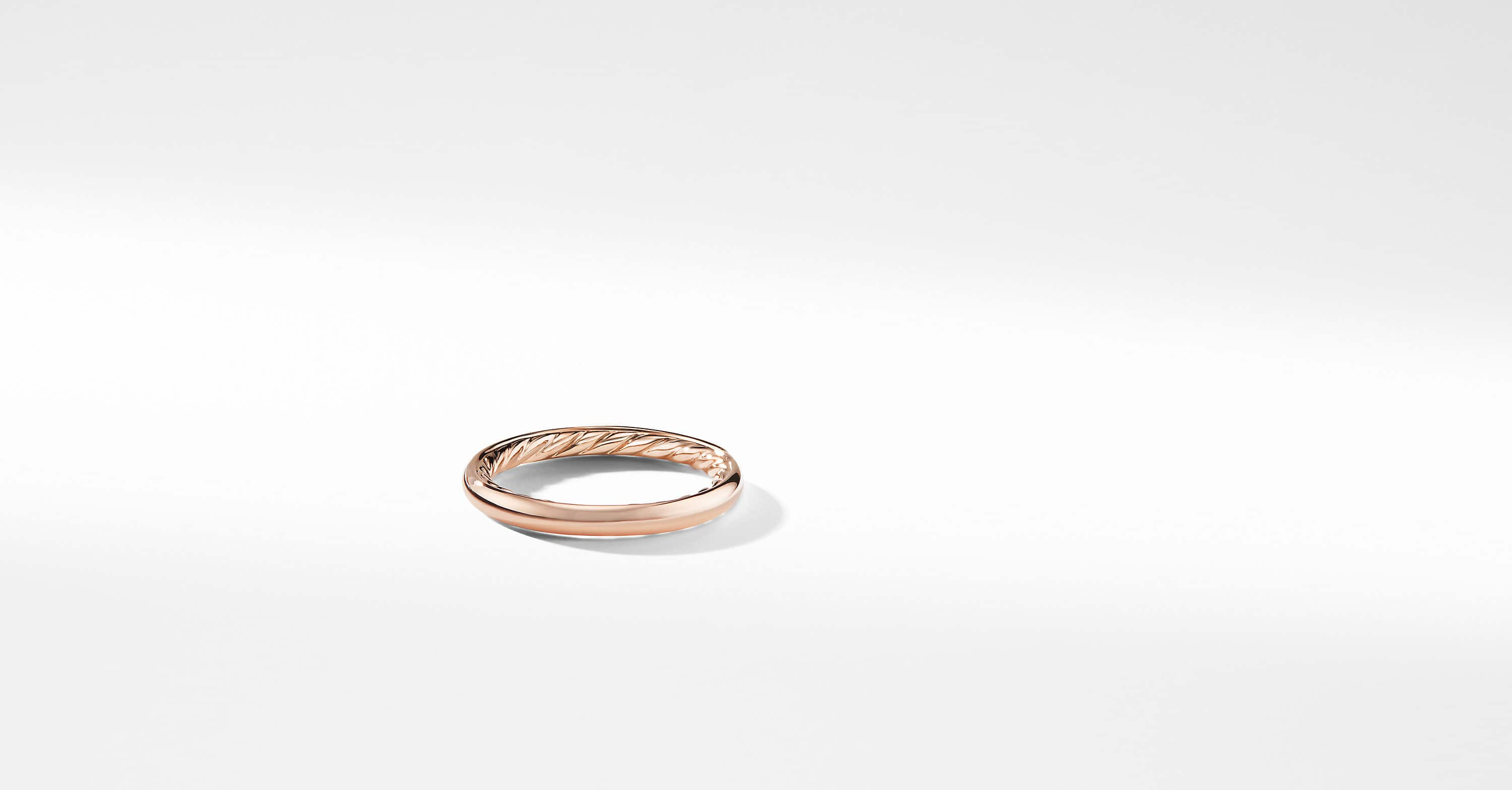 DY Eden Smooth Wedding Band in 18K Rose Gold, 2.5mm