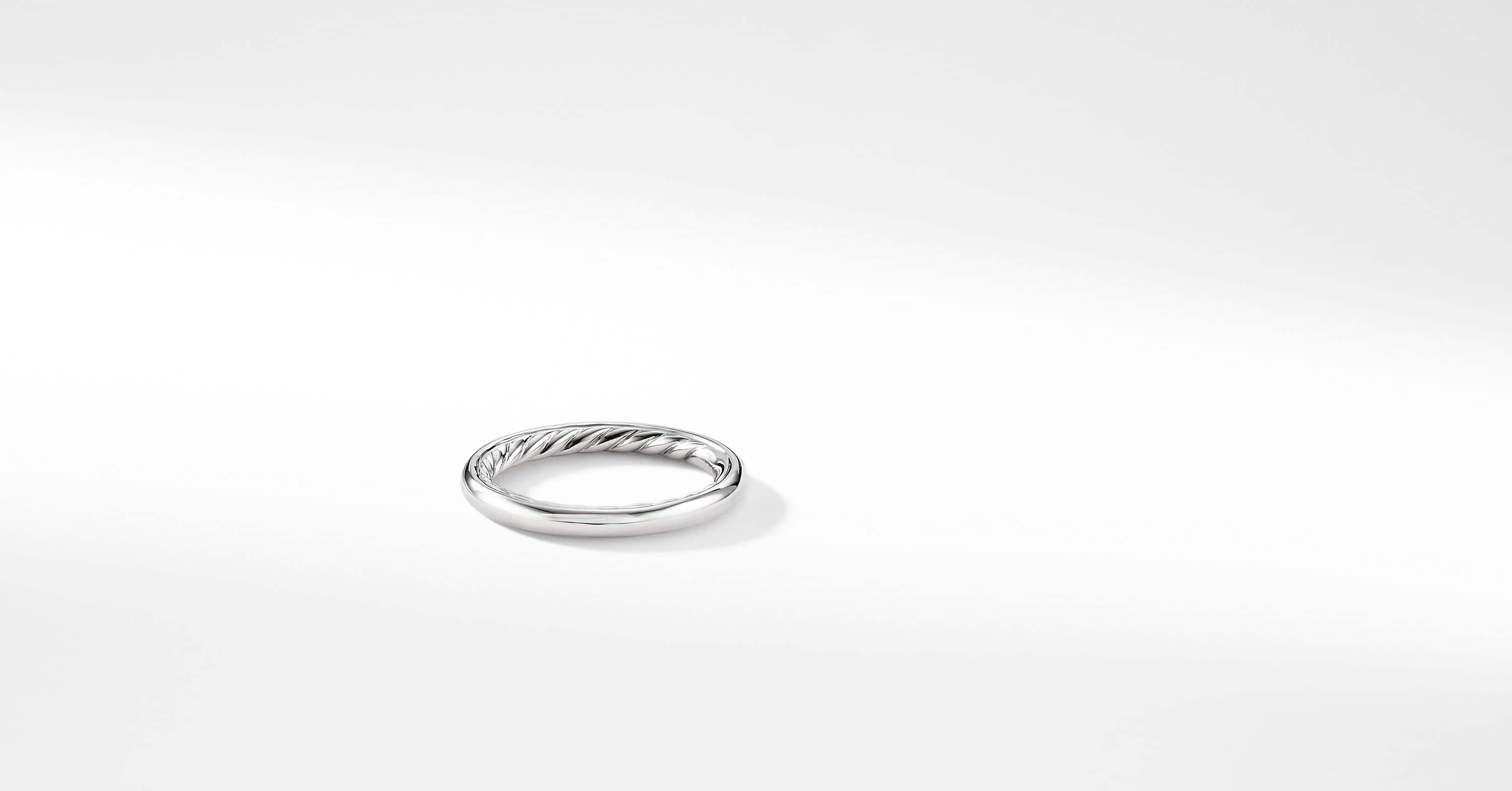 DY Eden Smooth Wedding Band in Platinum, 2.5mm