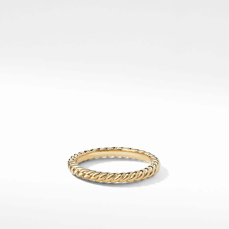 DY Unity Cable Wedding Band in 18K Gold, 2.45mm