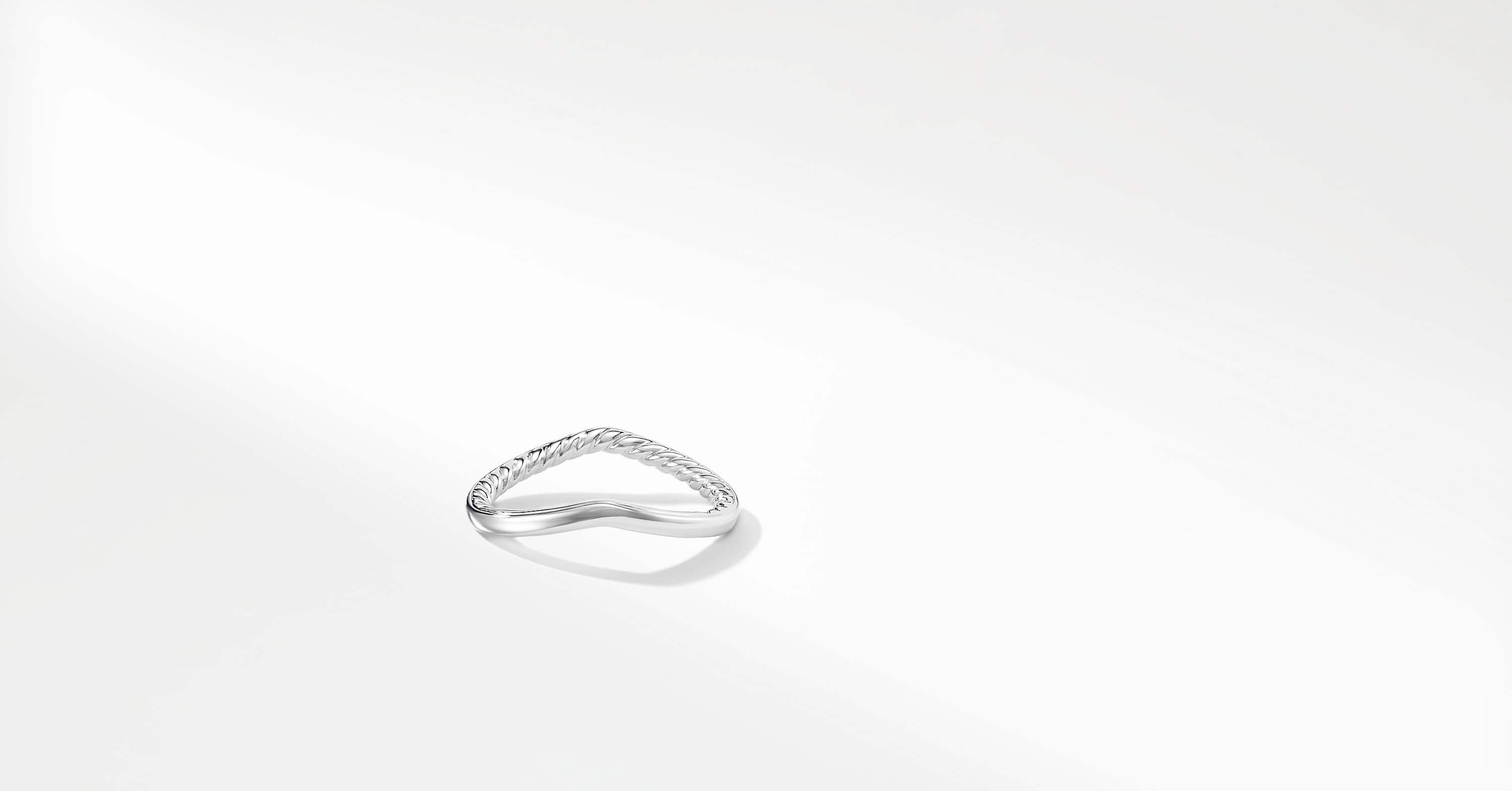 DY Crossover Nesting Wedding Band in Platinum, 1.9mm