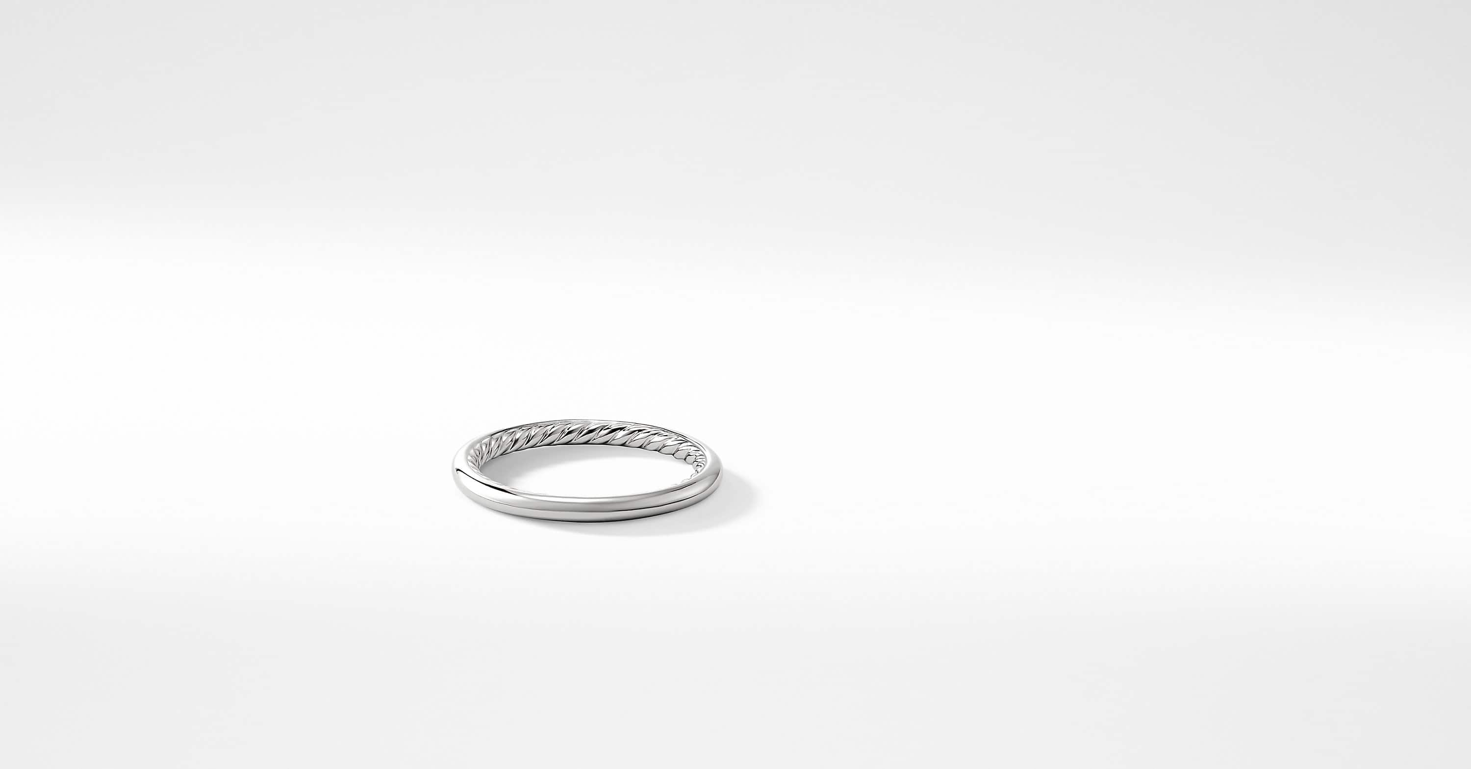 DY Eden Wedding Band in Platinum, 2mm