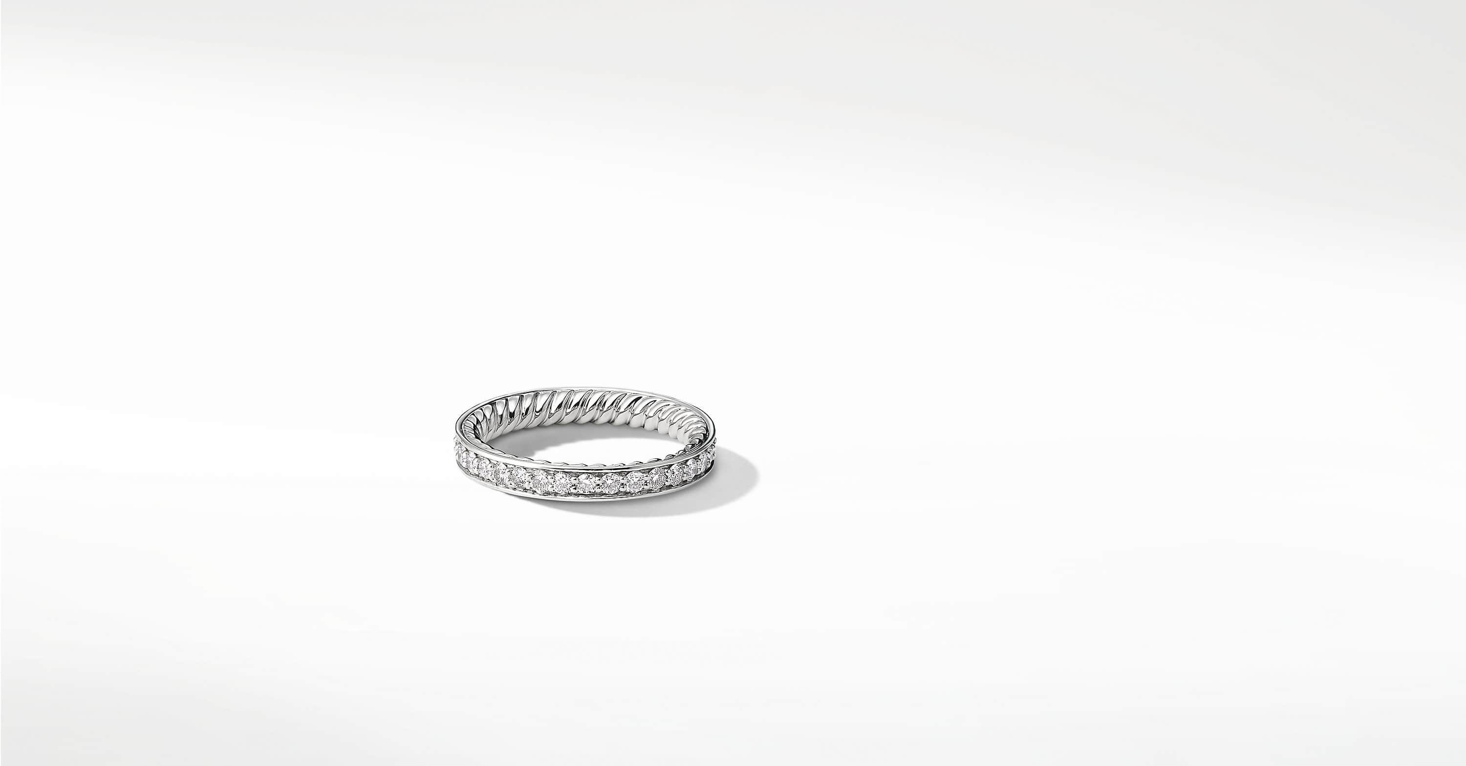 DY Eden Eternity Wedding Band with Diamonds in Platinum, 3mm