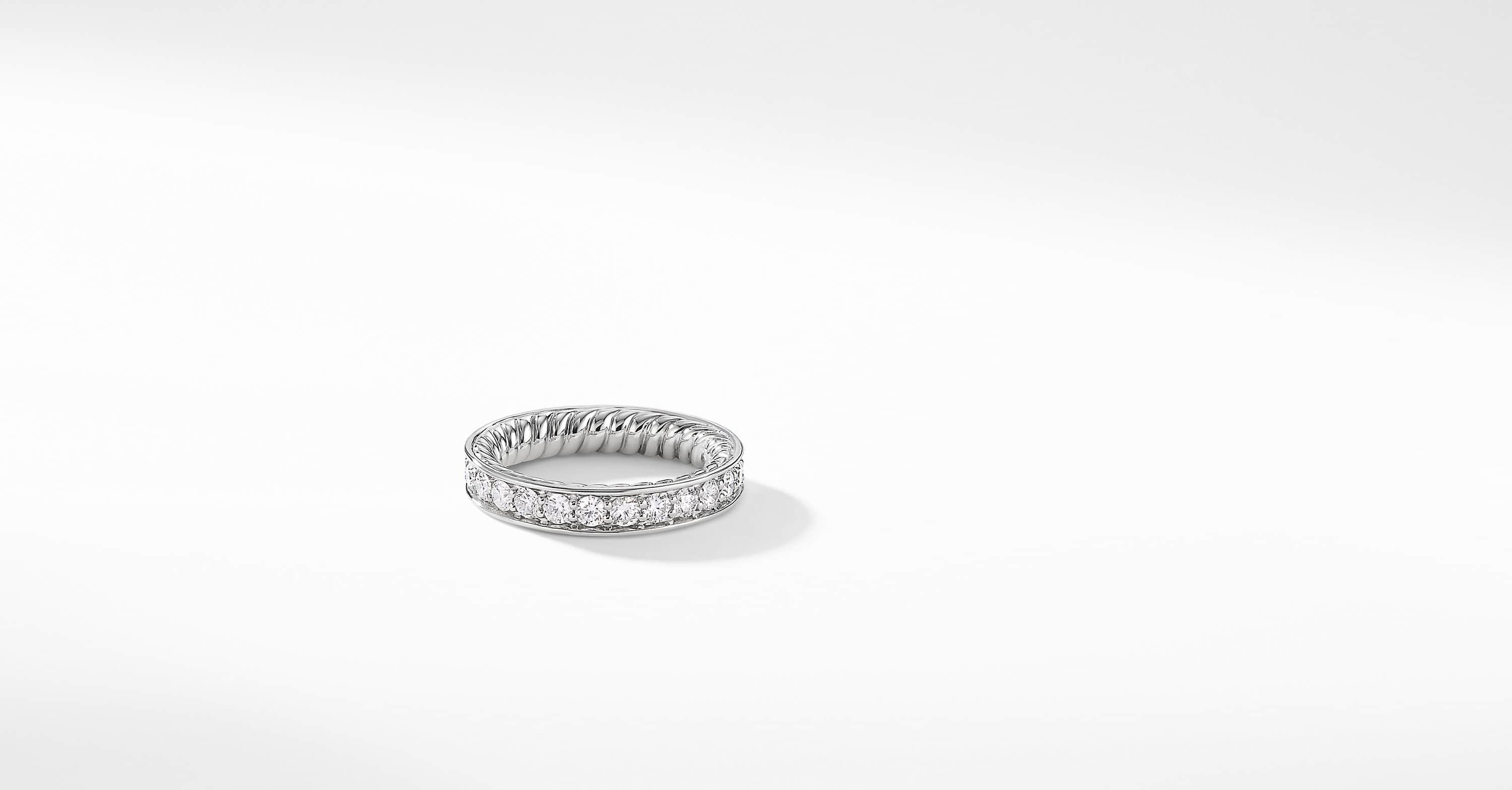 DY Eden Eternity Wedding Band with Diamonds in Platinum, 3.8mm