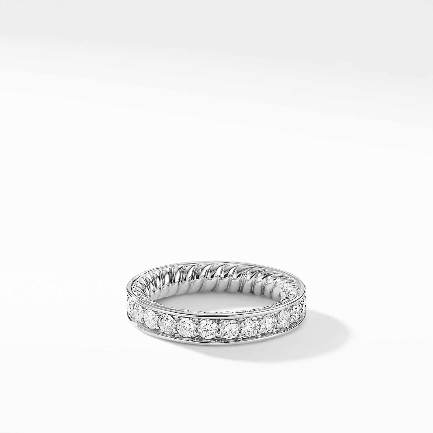 It is just a photo of DY Eden Eternity Wedding Band with Diamonds in Platinum, 338.38mm