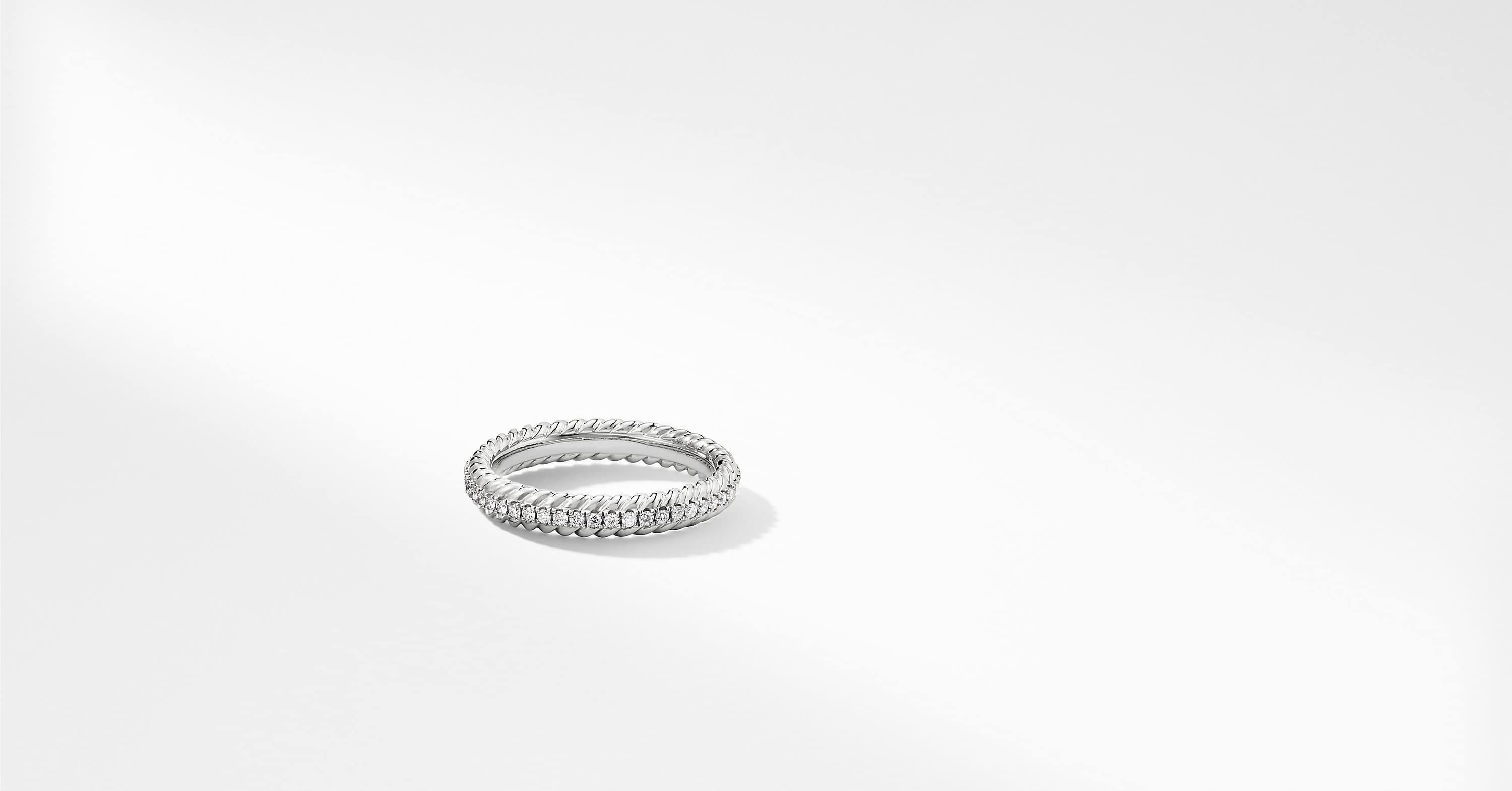 DY Unity Pavé Wedding Band with Diamonds in Platinum, 4mm