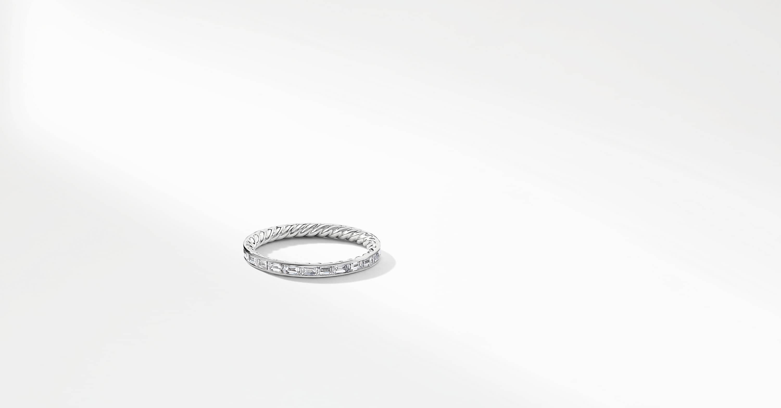DY Wisteria Eternity Wedding Band with Diamonds in Platinum