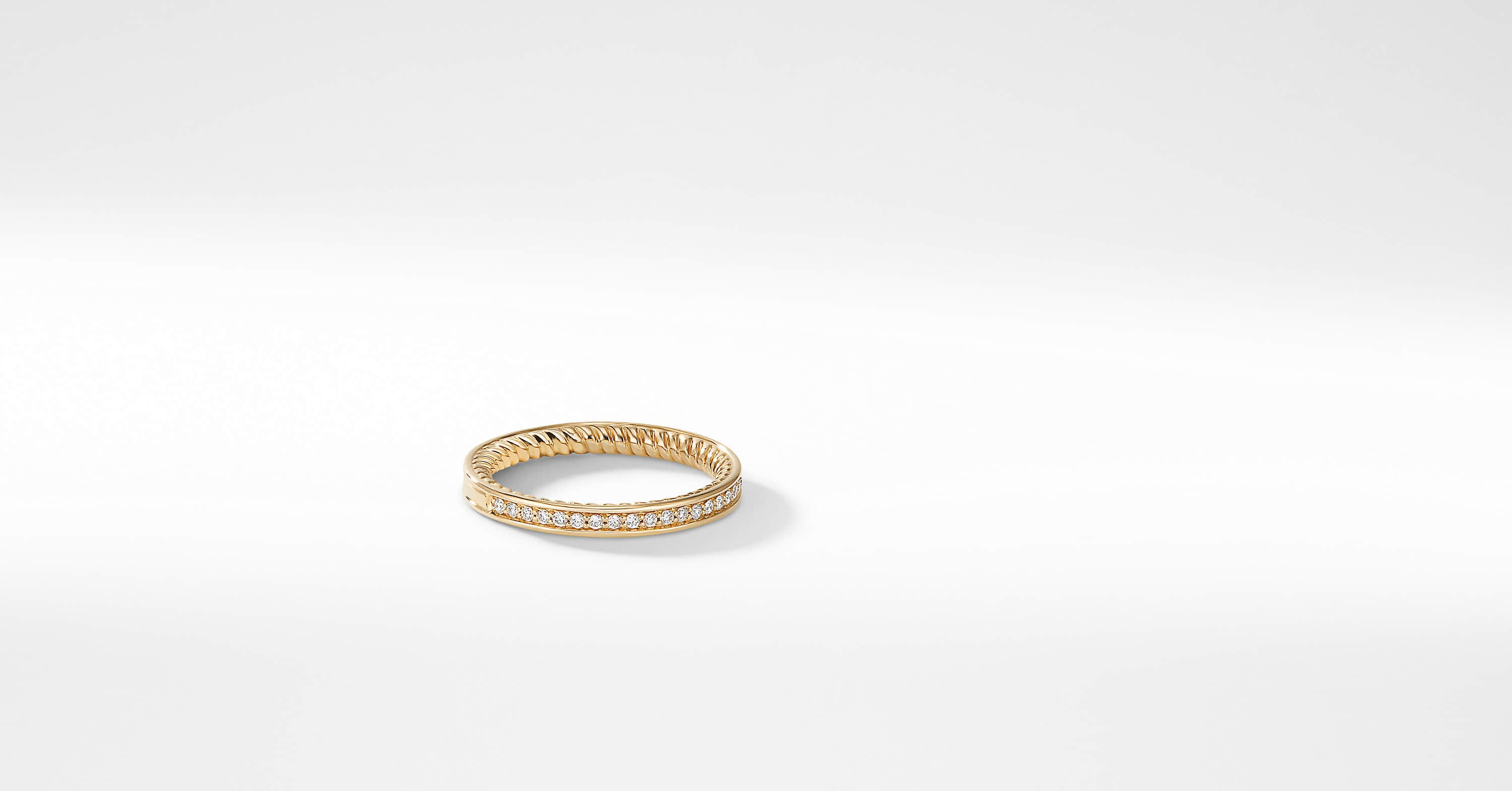 DY Eden Eternity Wedding Band with Diamonds in 18K Gold, 2.3mm