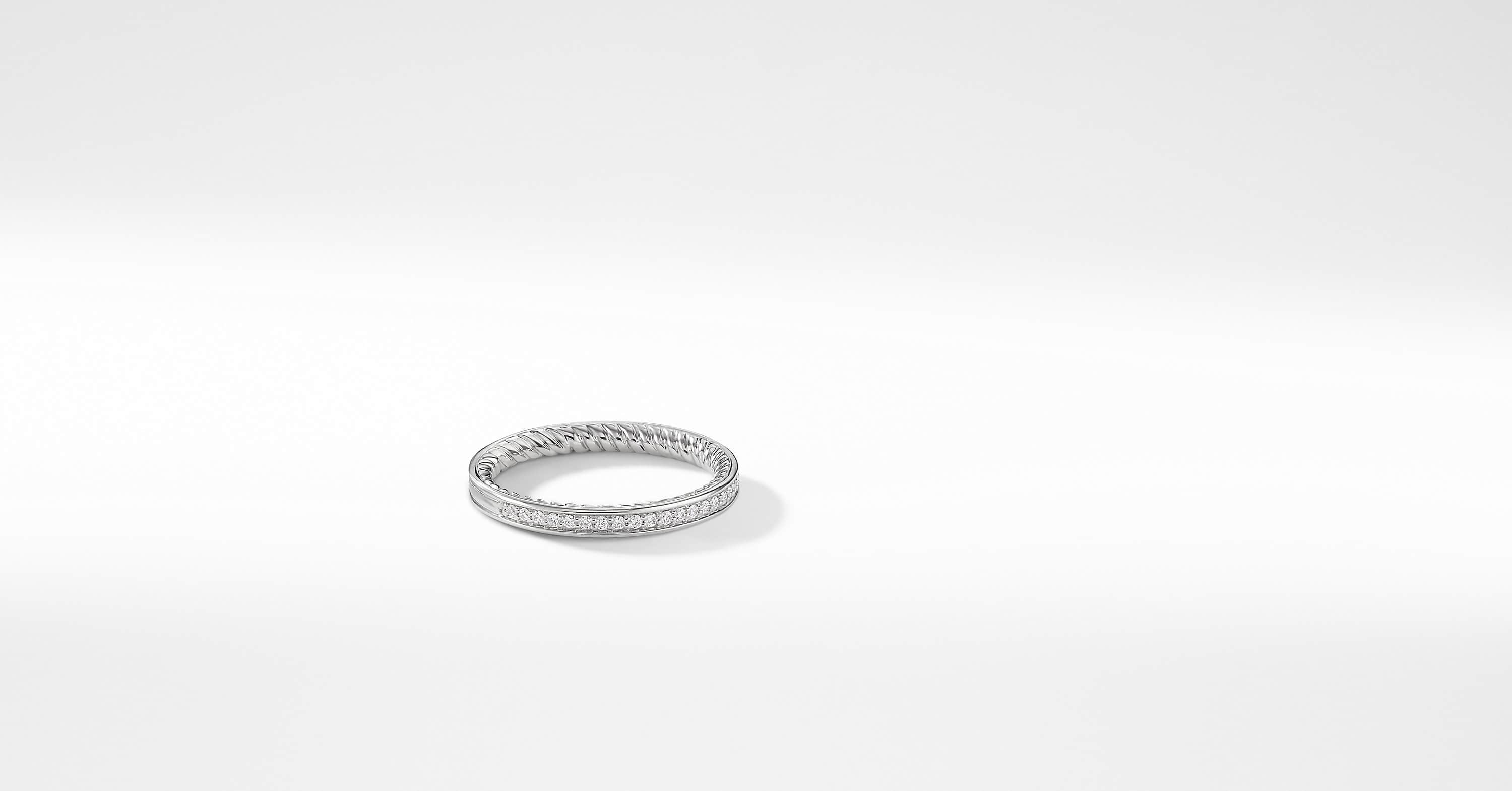 DY Eden Eternity Wedding Band with Diamonds in Platinum, 2.3mm