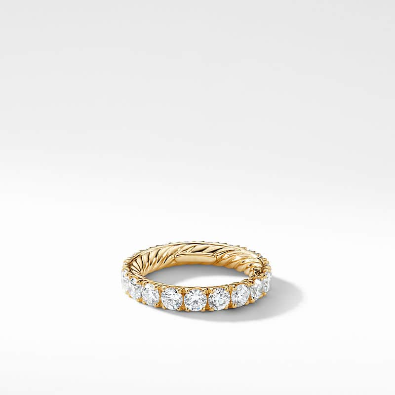 DY Eden Single Row Wedding Band with Diamonds in 18K Gold, 3.6mm