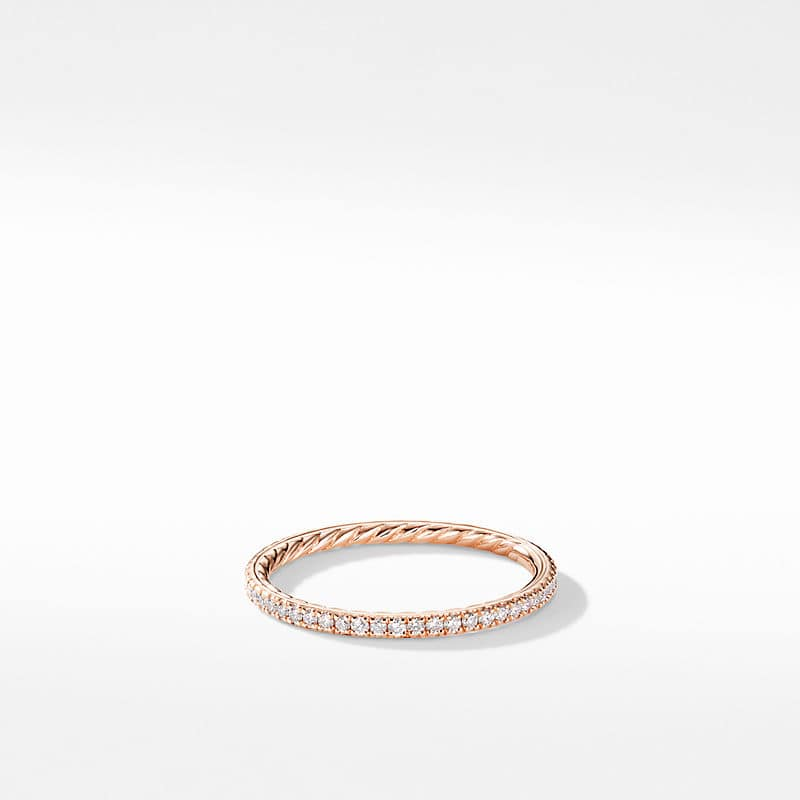 DY Eden Wedding Band in 18K Rose Gold with Diamonds, 1.55mm