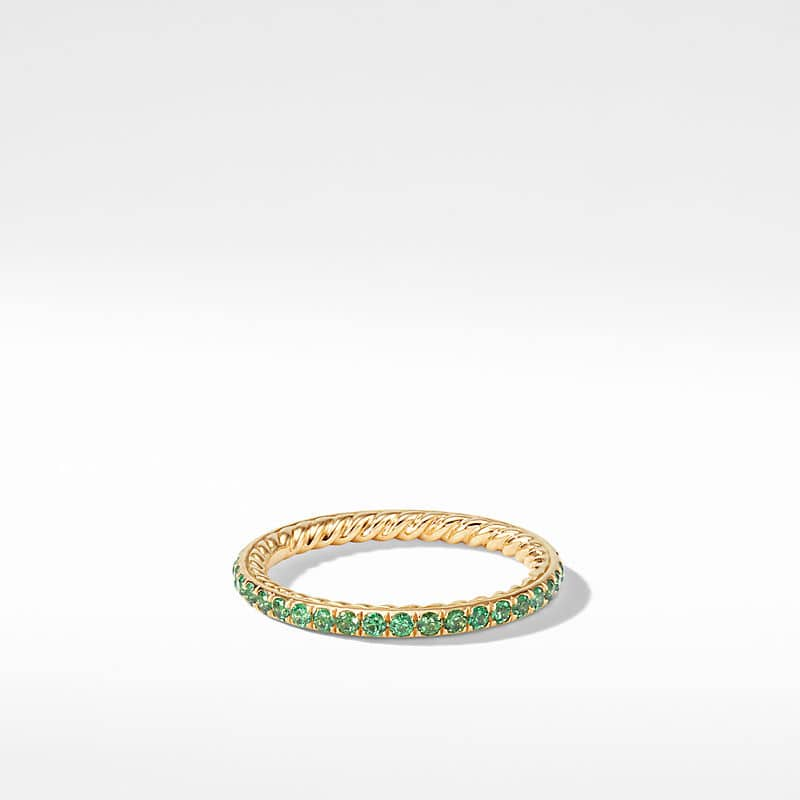 DY Eden Single Row Wedding Band with Diamonds in 18K Gold, 1.85mm