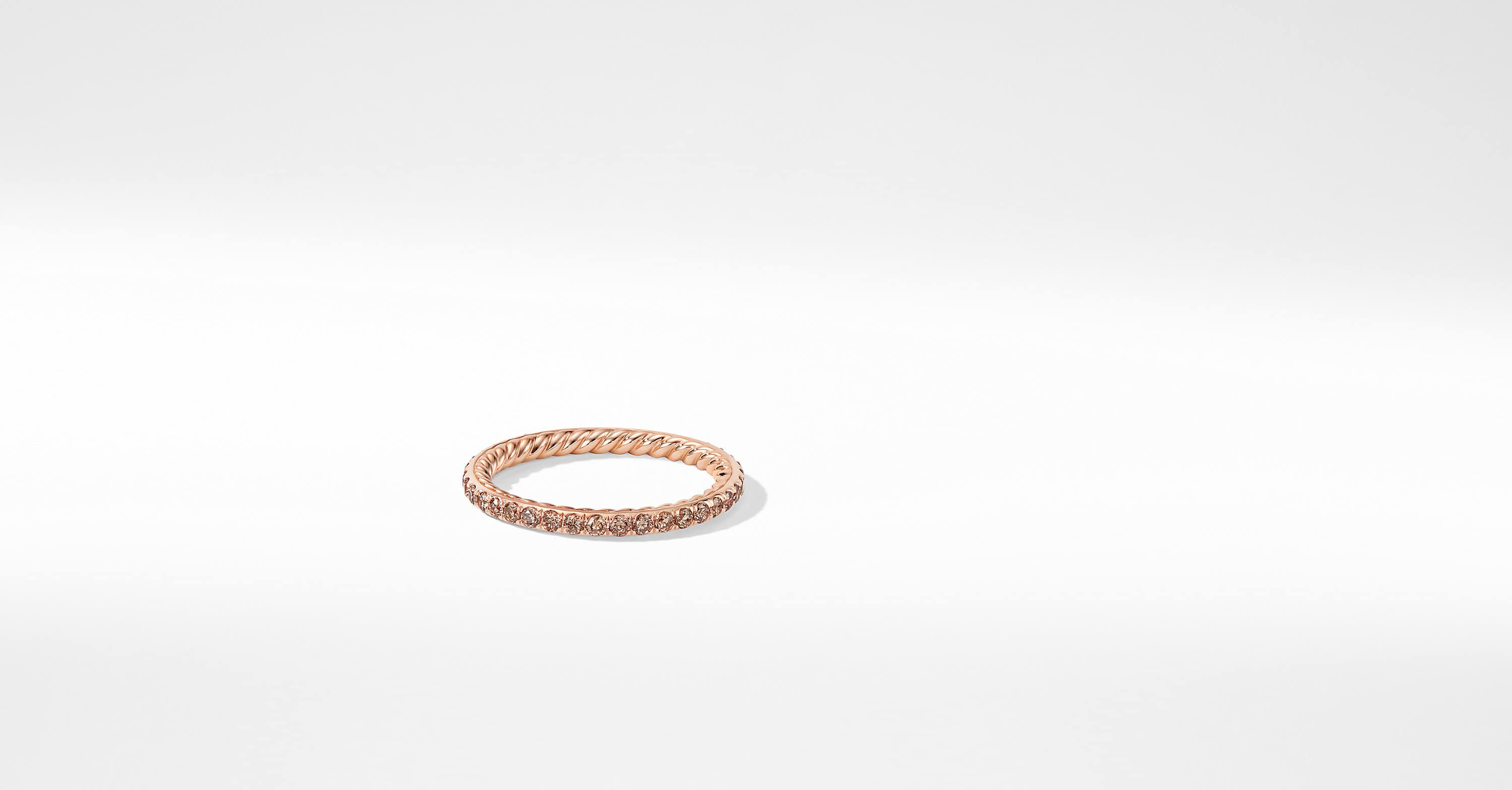 DY Eden Single Row Wedding Band with Diamonds in 18K Rose Gold, 1.85mm