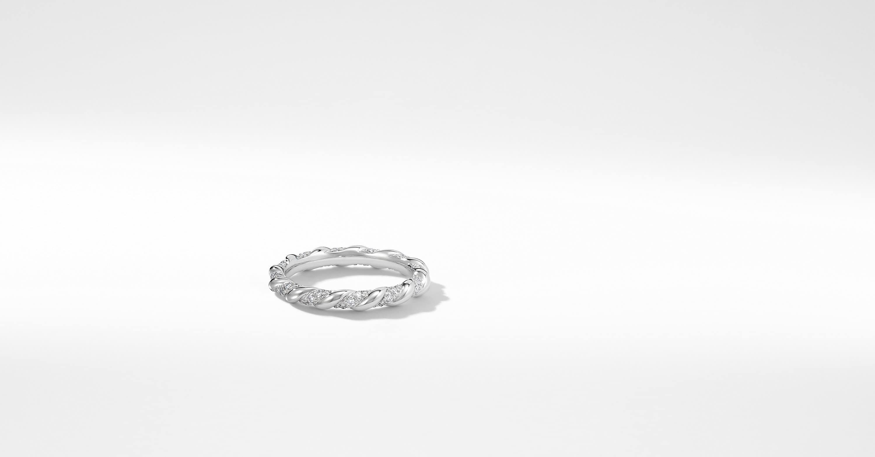DY Unity Wedding Band with Diamonds in Platinum, 2.6mm