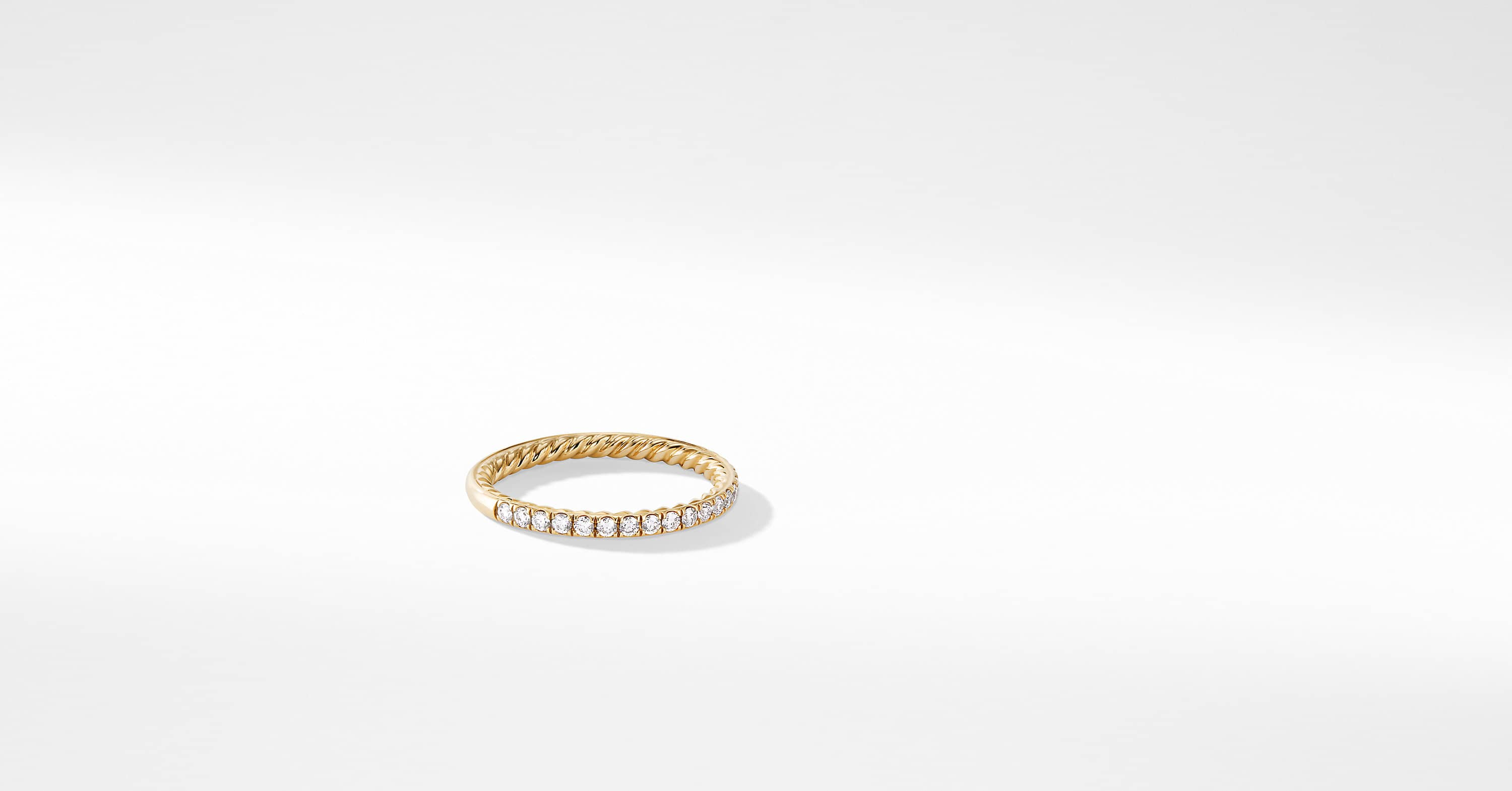 DY Eden Eternity Wedding Band with Diamonds in 18K Gold, 1.85mm