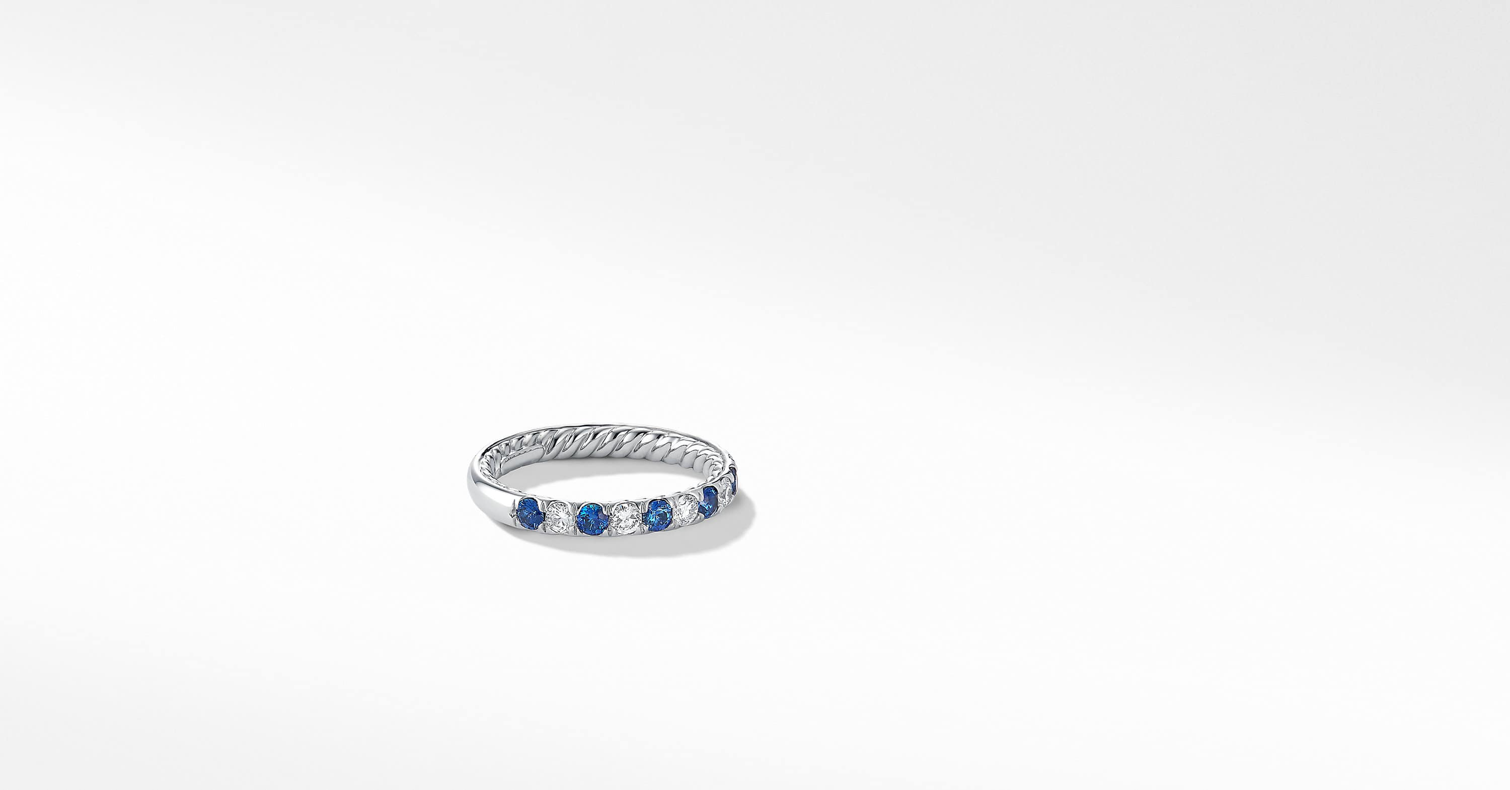 DY Eden Eternity Wedding Band with Diamonds in Platinum, 2.8mm