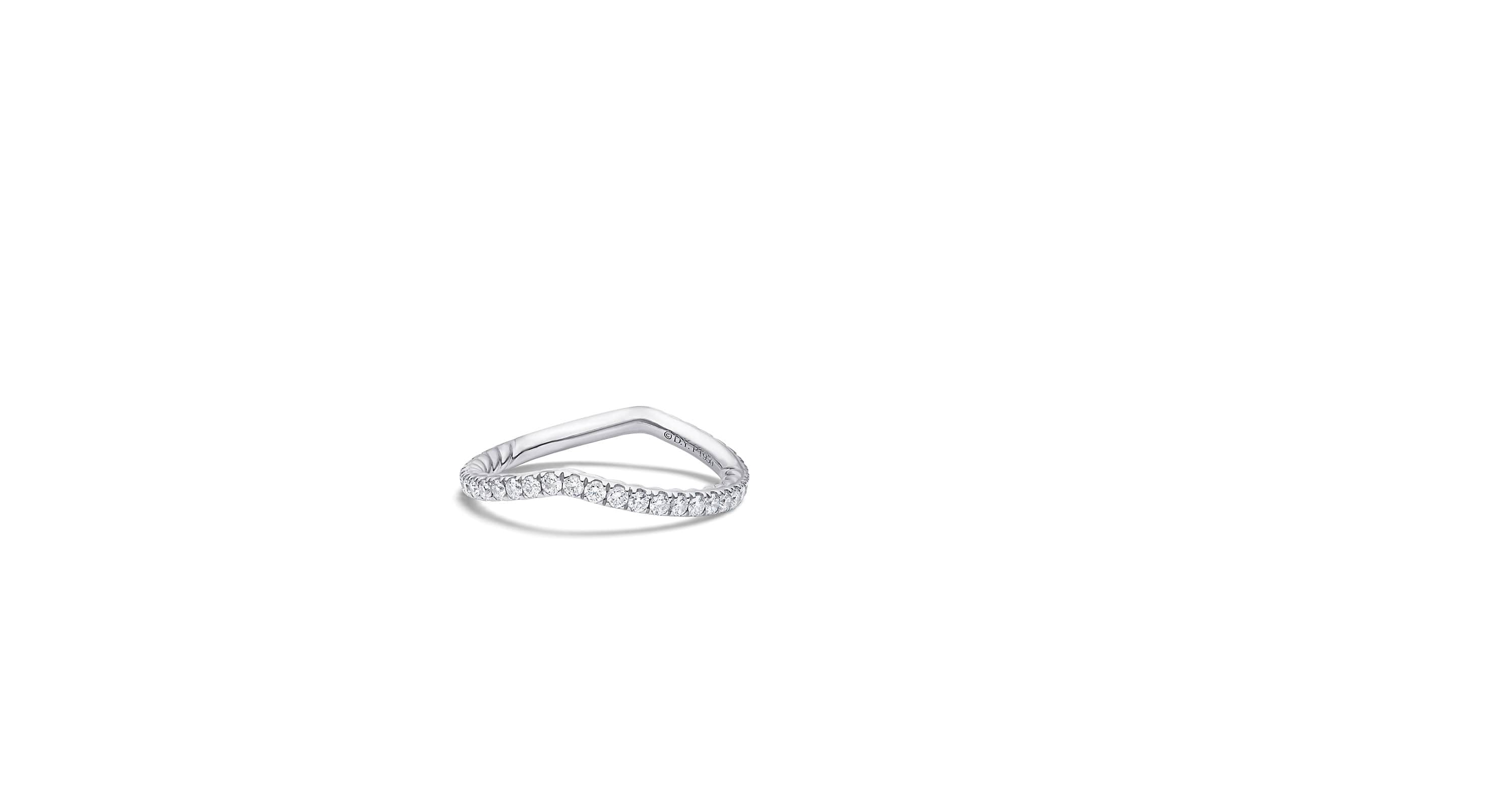 DY Crossover Pave Nesting Wedding Band with Diamonds in Platinum, 1.9mm