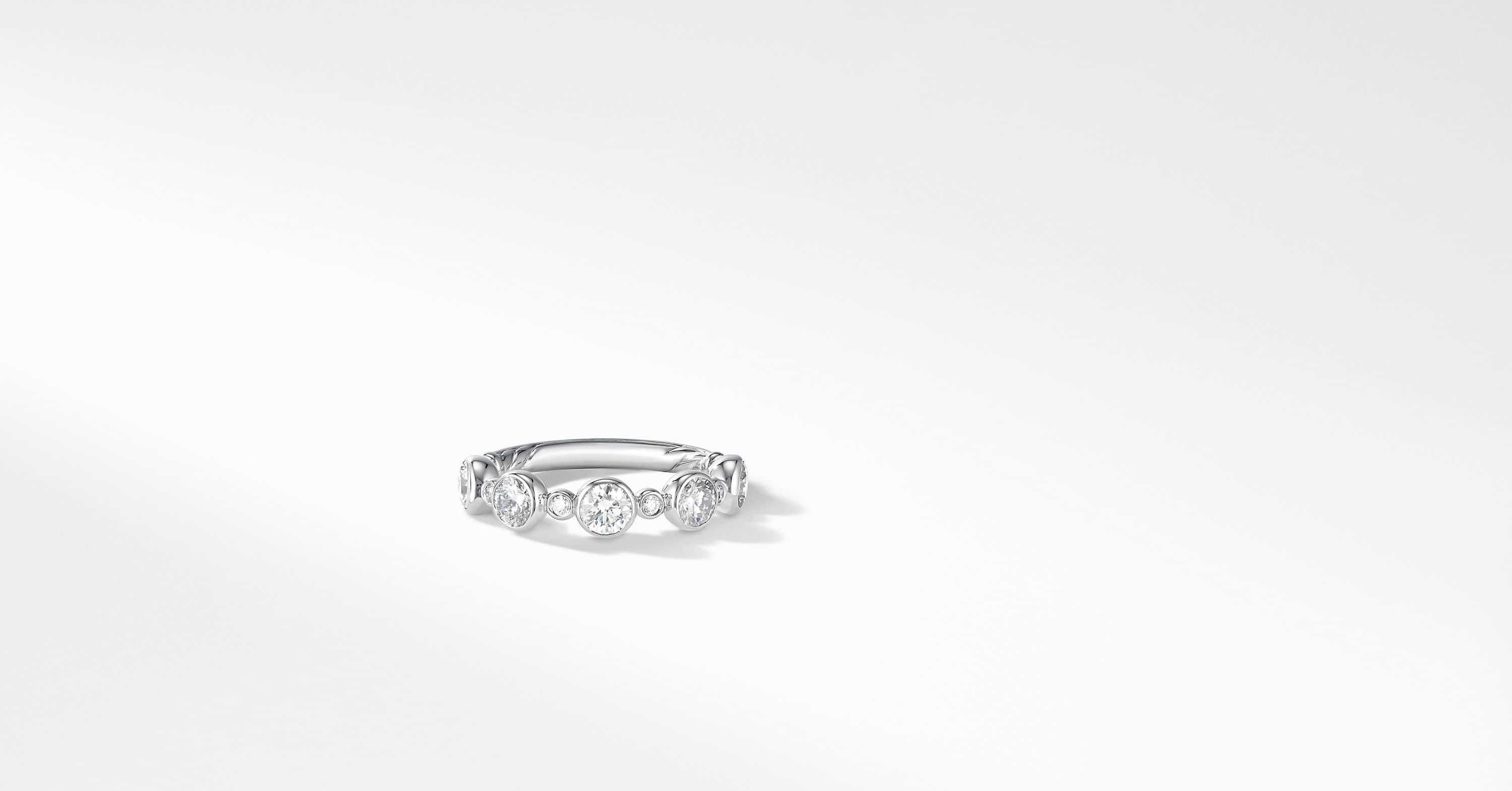 DY Starlight Pavé Band Ring with Diamonds in Platinum