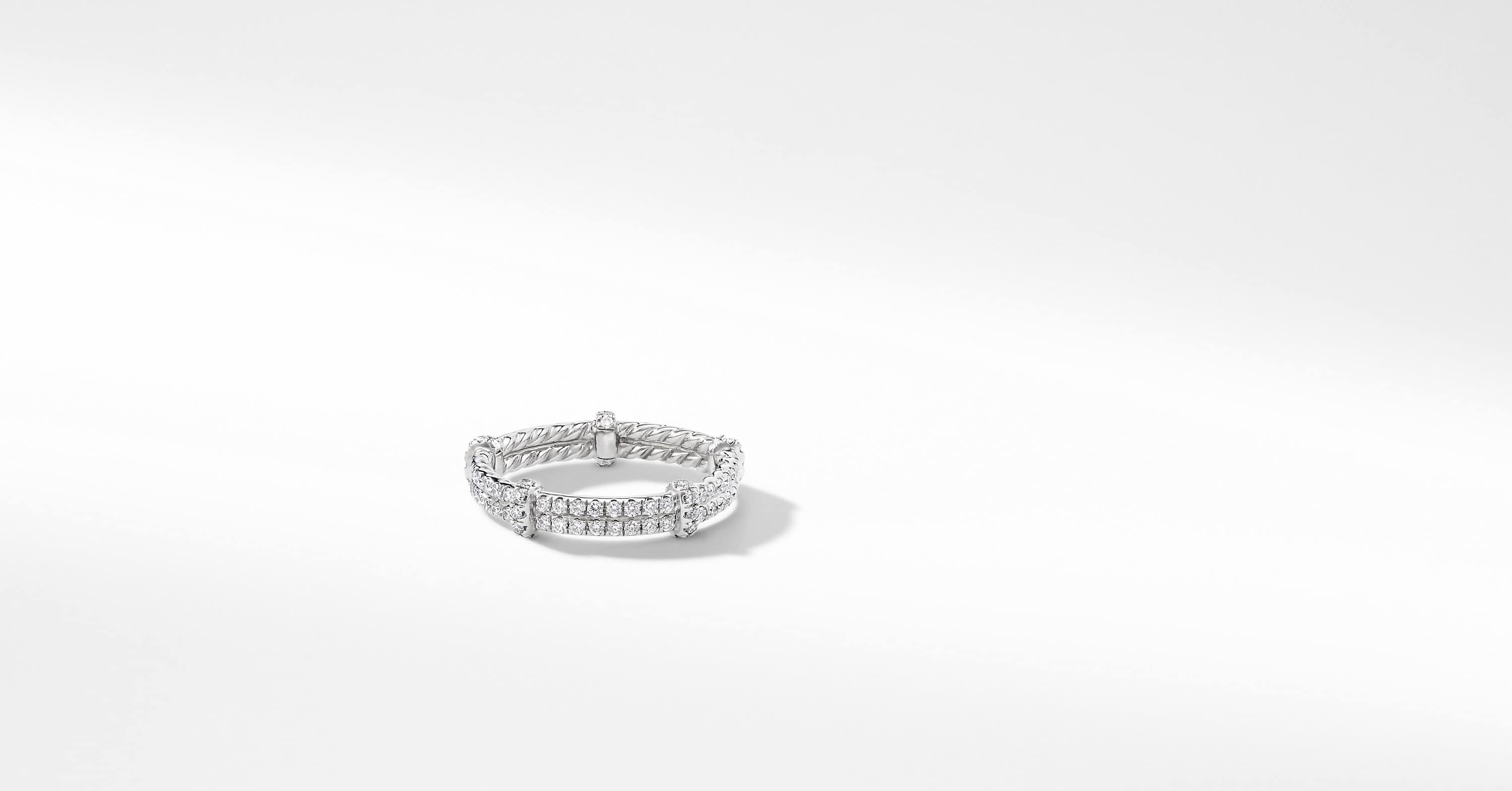 DY Astor Pave Eternity Wrap Band with Diamonds in Platinum