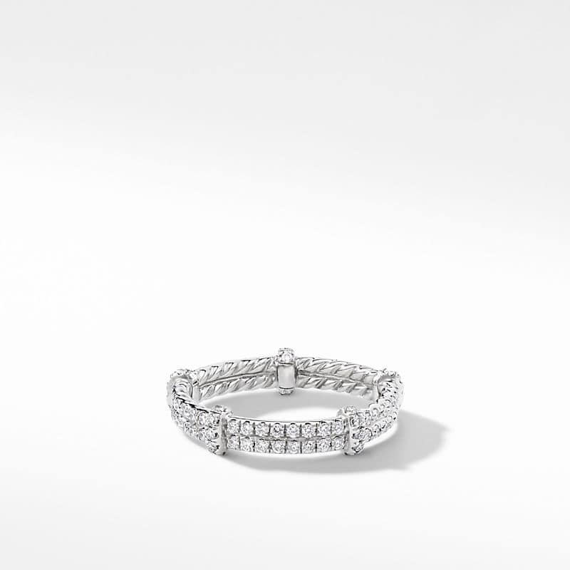 DY Astor Pave Eternity Wrap Band with Diamonds