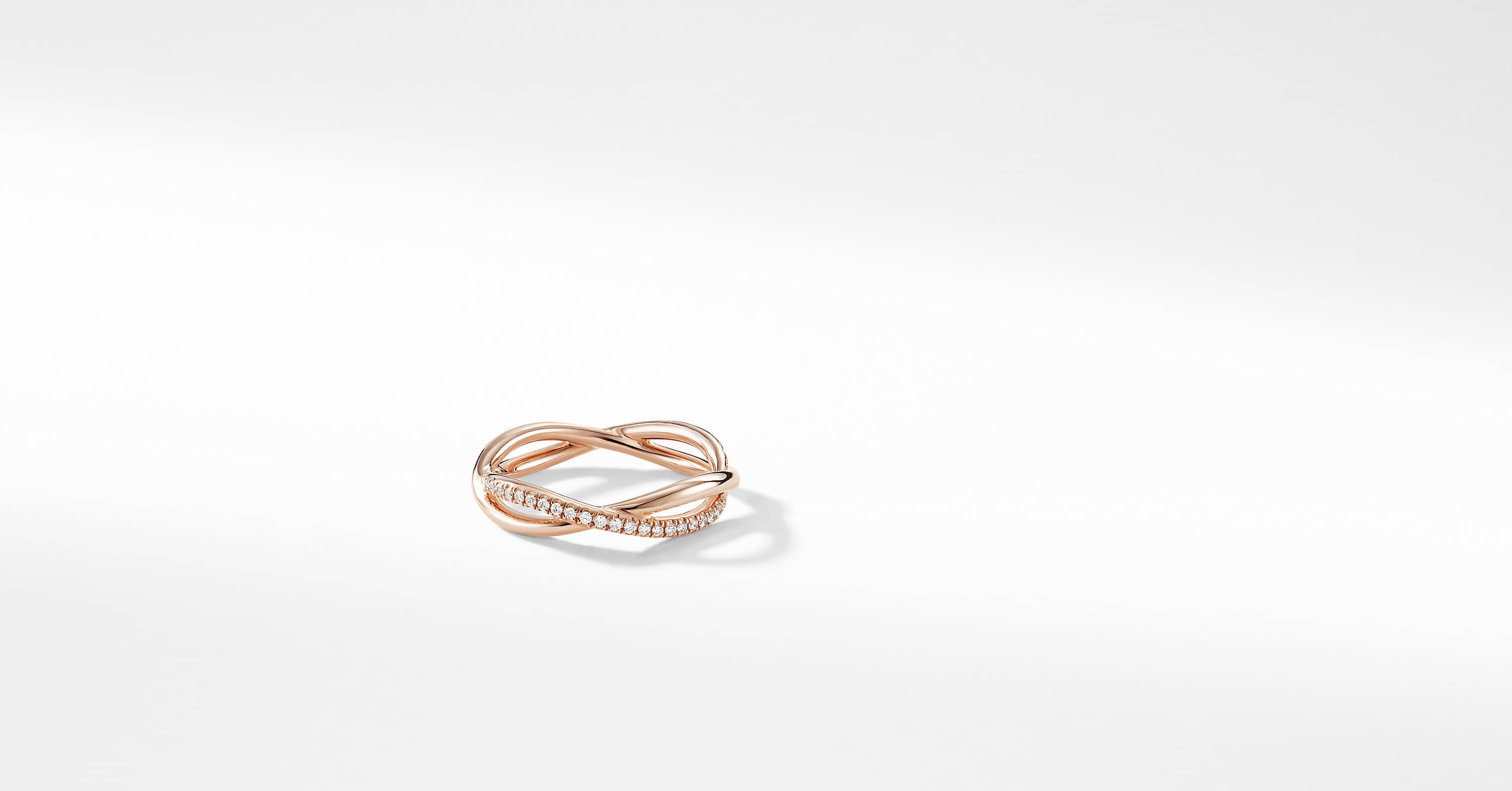 DY Lanai Pavé Wedding Band with Diamonds in 18K Rose Gold