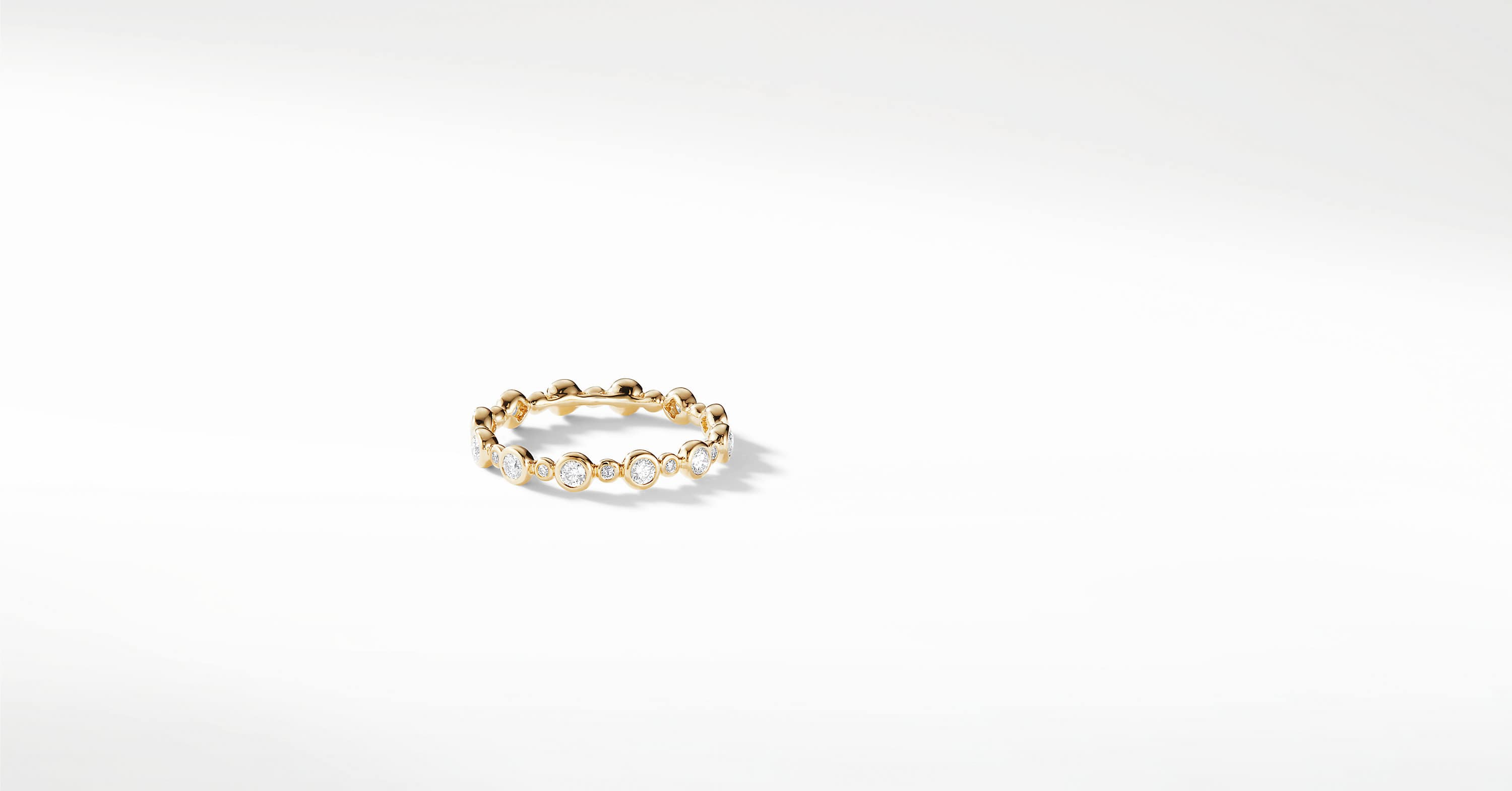DY Starlight All Pavé Band Ring with Diamonds in 18K Gold