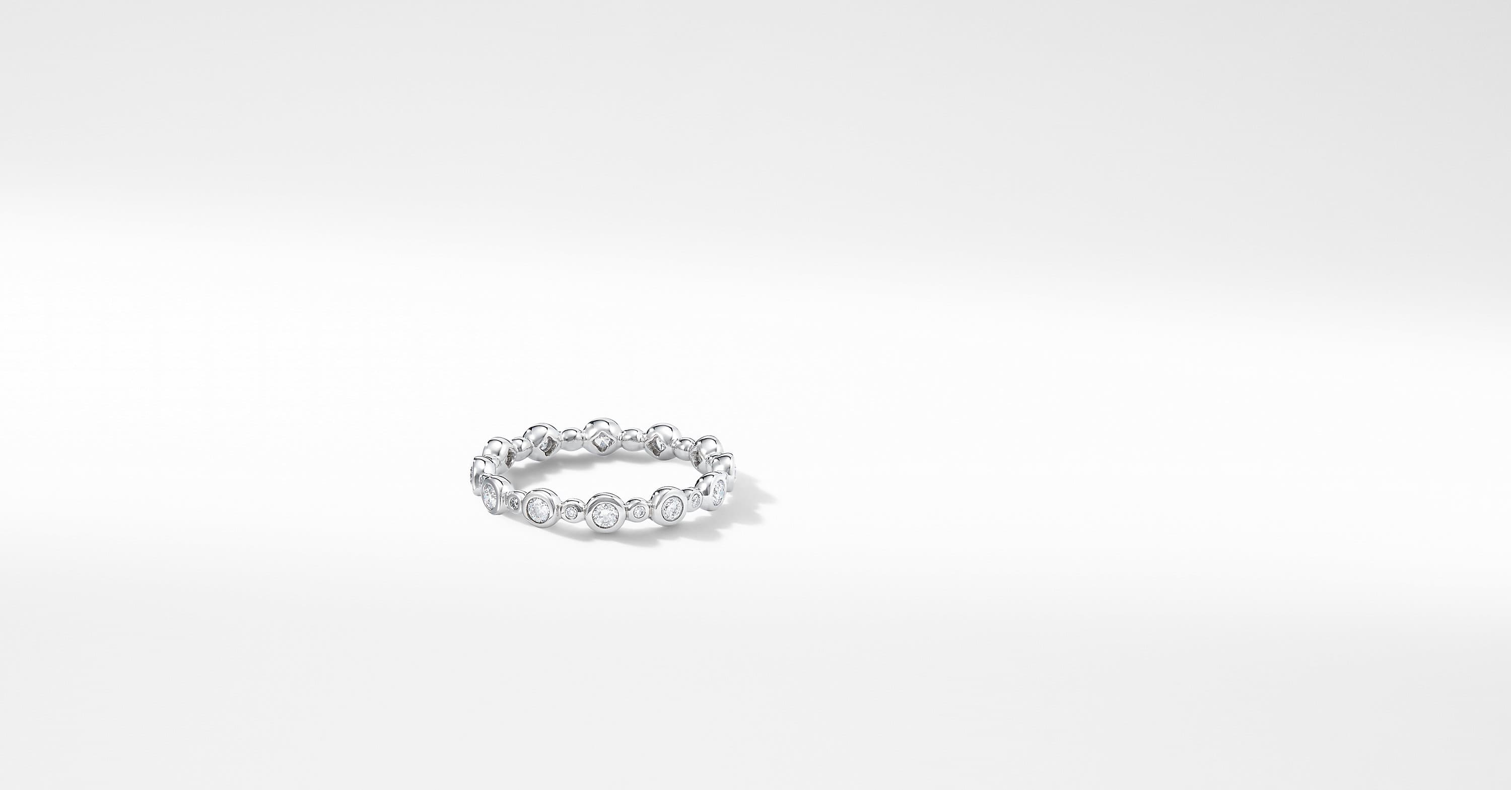 DY Starlight All Pavé Band Ring with Diamonds in Platinum