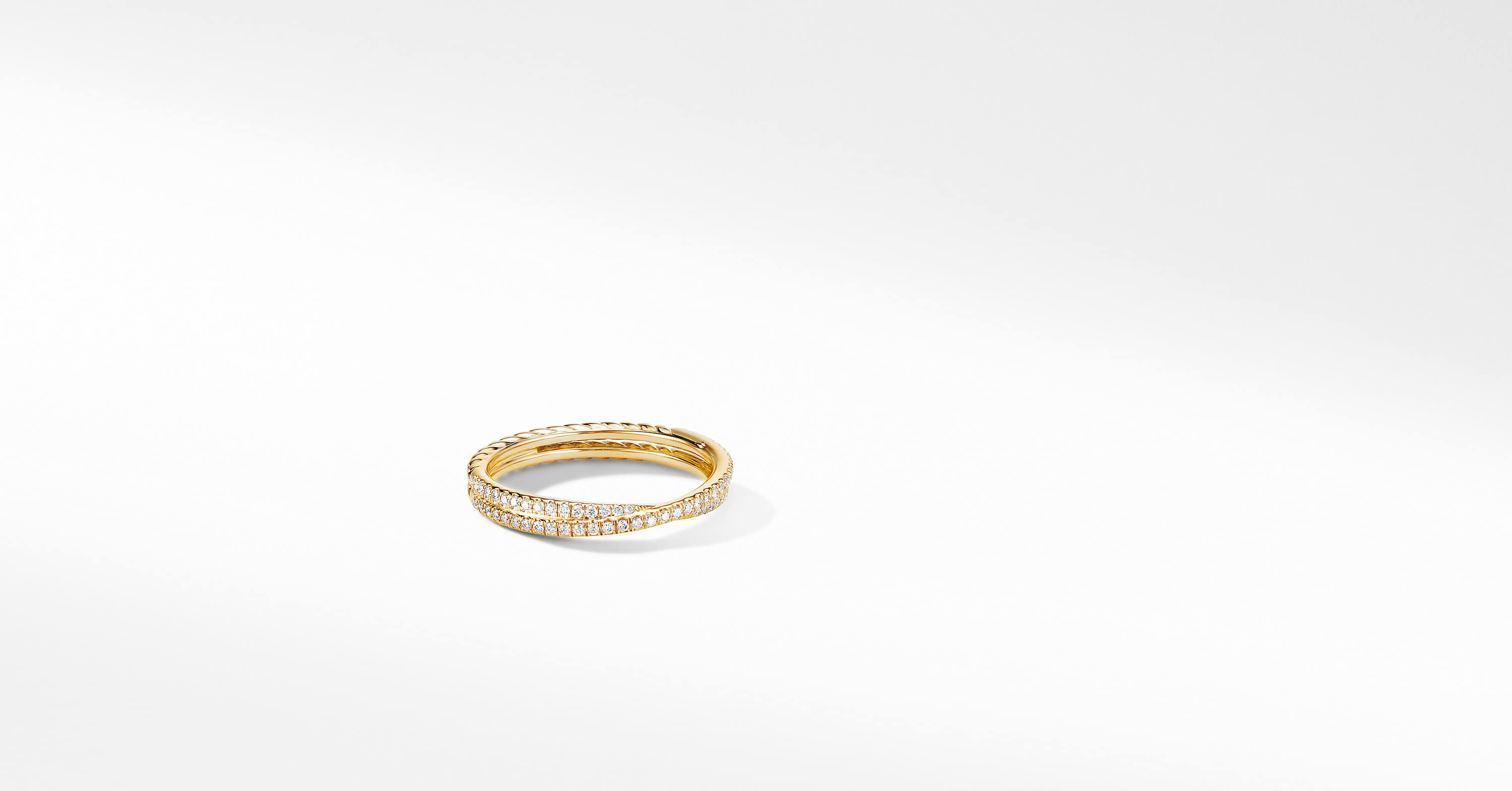 The Crossover Collection Micro Pavé Band Ring in 18K Yellow Gold