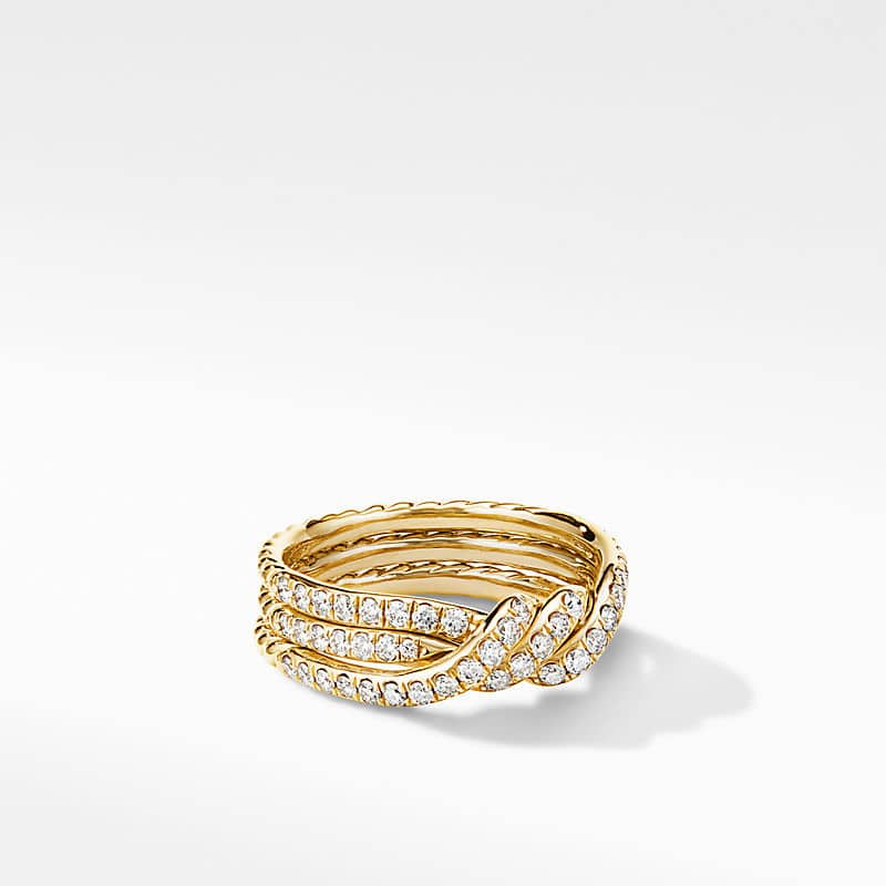 Continuance Three Row Wedding Band in 18K Yellow